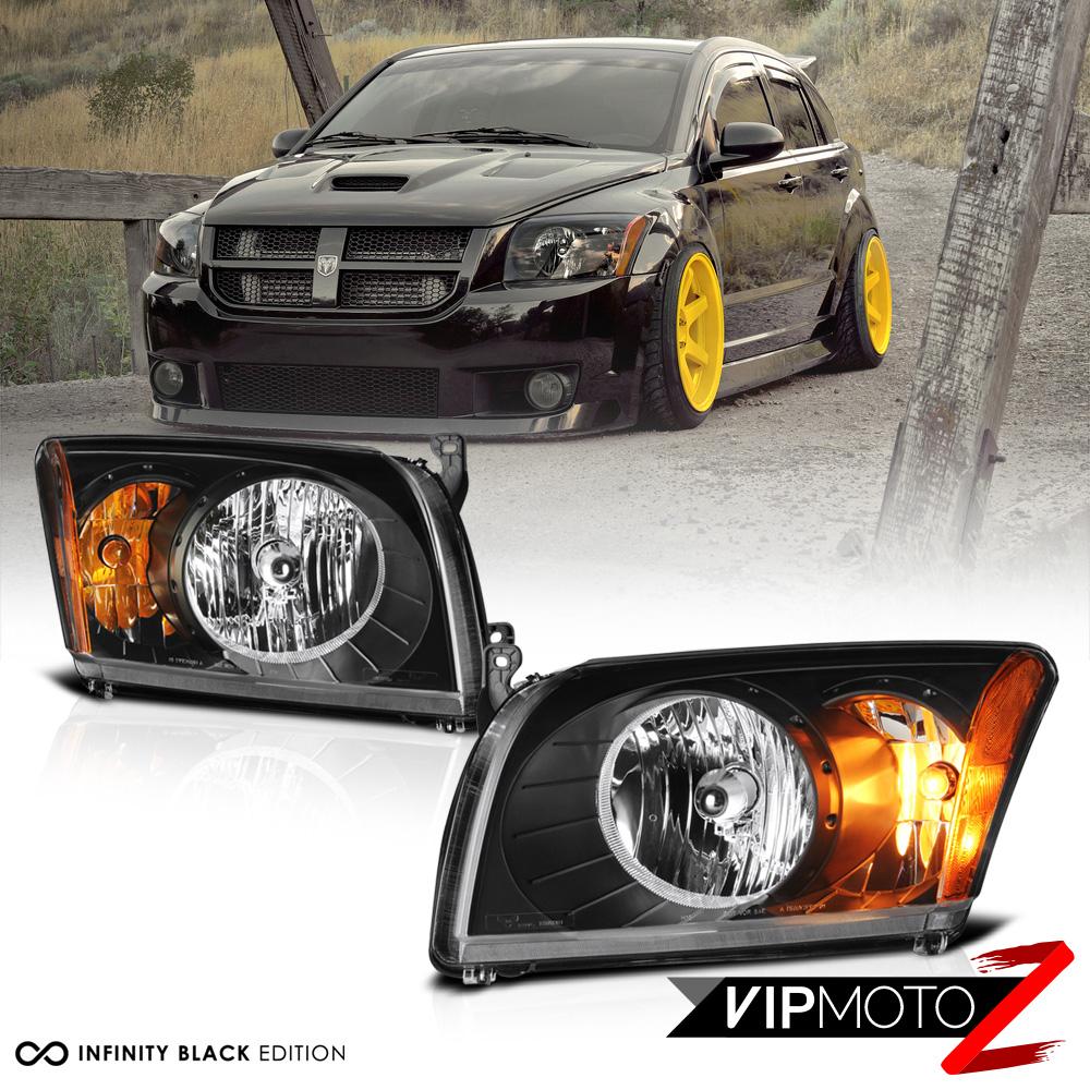 Front Headlights Headlamps Lights Lamps LH /& RH Pair Set for 07-12 Dodge Caliber