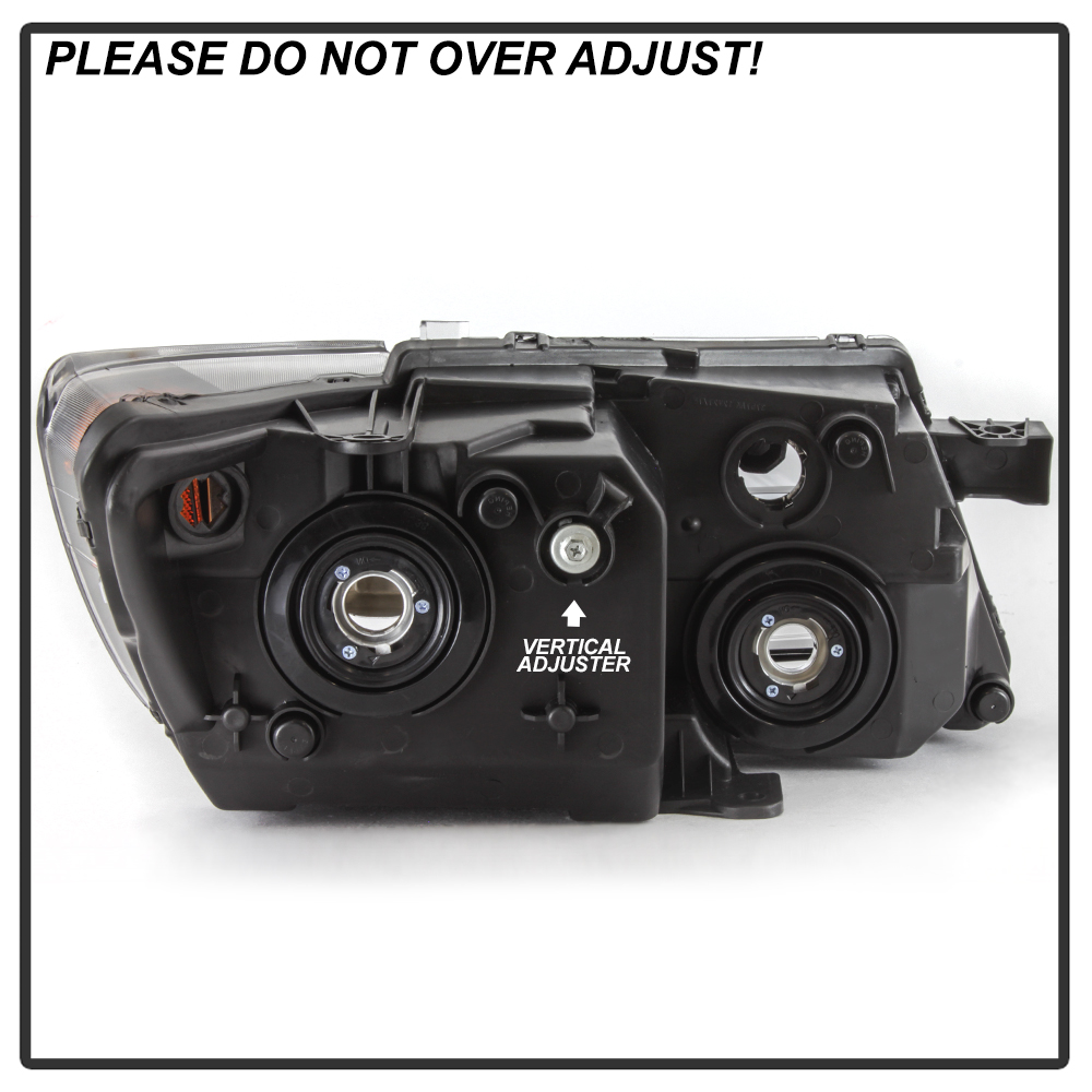 {Left Driver Side}Crystal Clear Black Housing Headlight