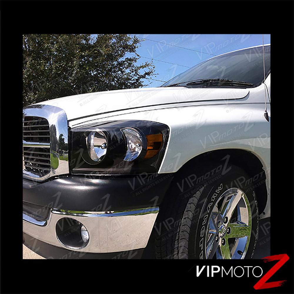 2006-2008 Dodge Ram 1500 [SRT-10 Stil ] Schwarz Kristall
