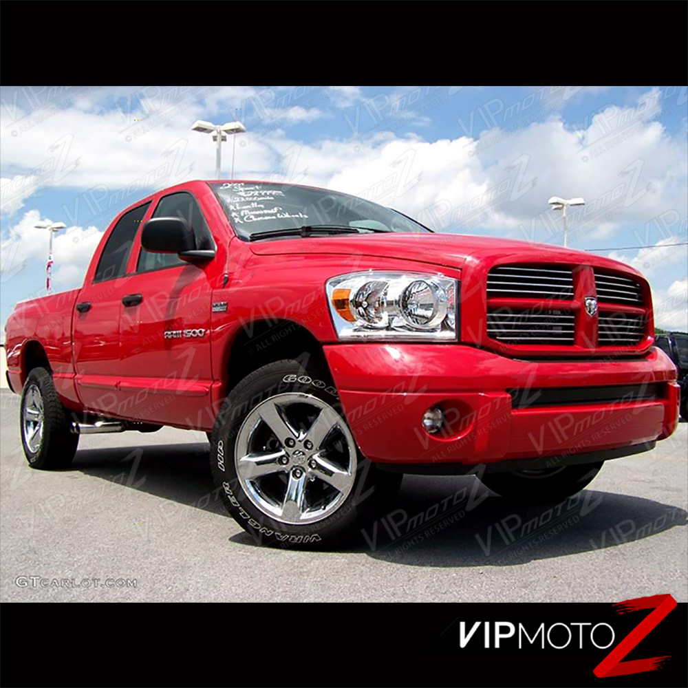 2006 Dodge Ram 3500 Mega Cab Exterior: 2006-2008 Dodge Ram 1500 Chrome Factory Style Headlights