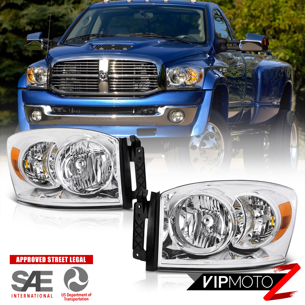 2006-2008 Dodge Ram 1500 Chrome Factory Style Headlights