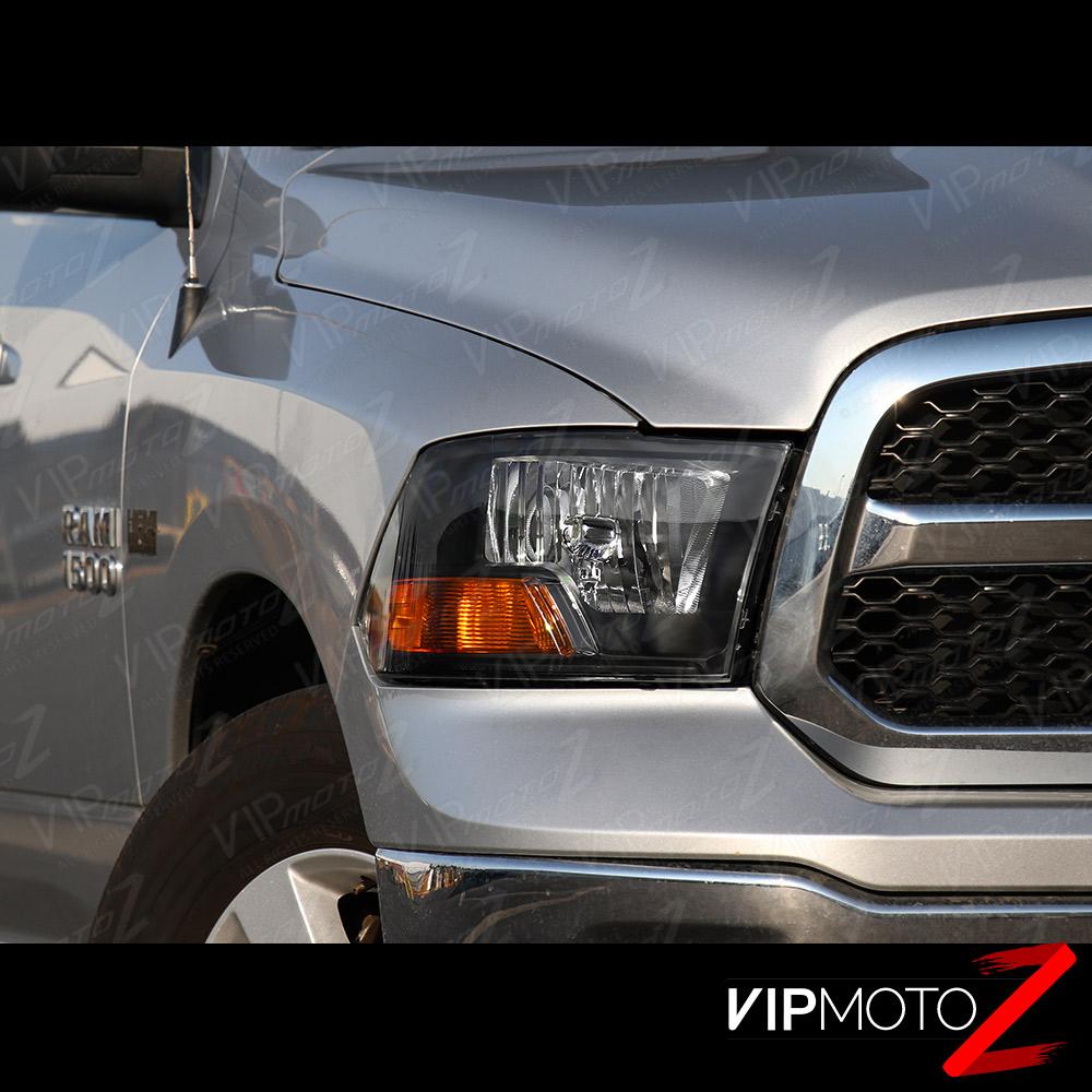 2009-2017 Dodge Ram 1500 2500 3500 Black FACTORY STYLE