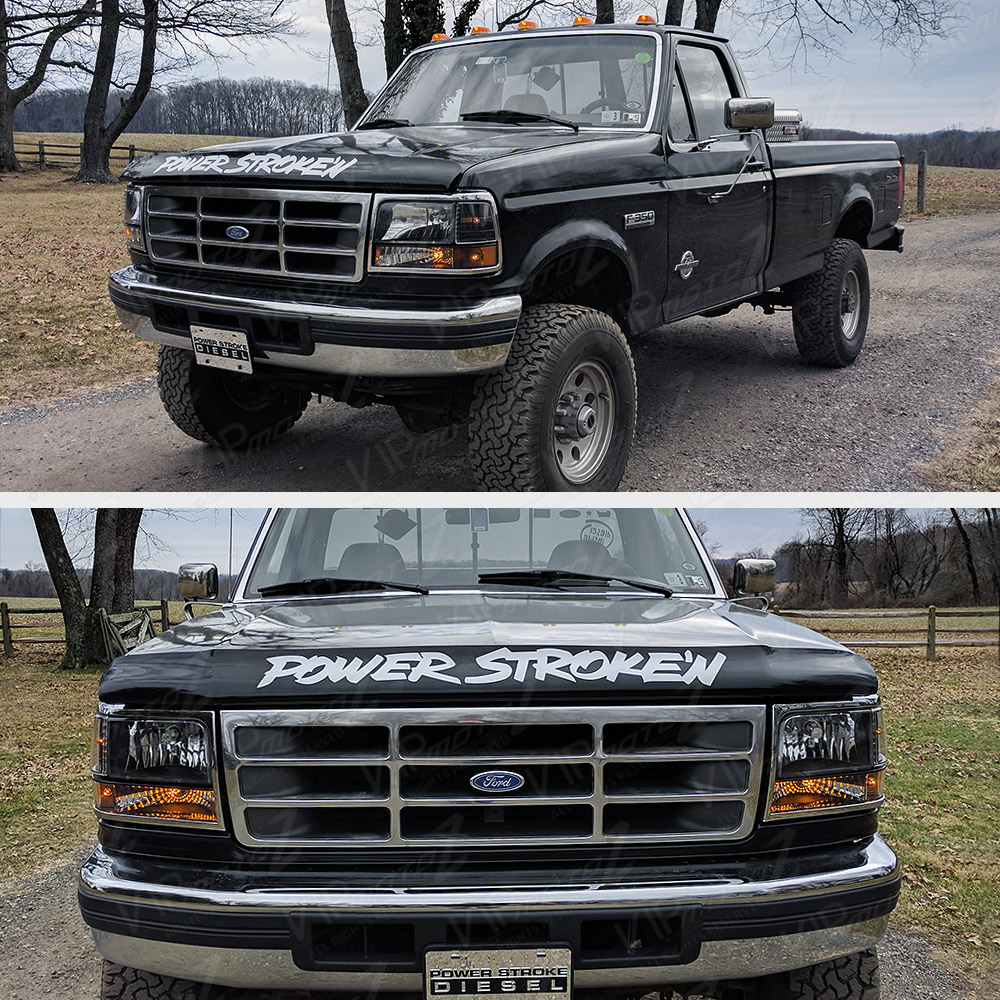 Ford F 250 Headlights : Ford f bronco black signal bumper