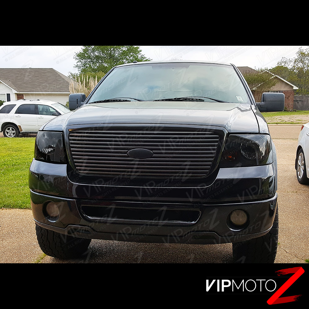 "2004-2008 Ford F150 ""SINISTER BLACK"" Smoke Head Lights"