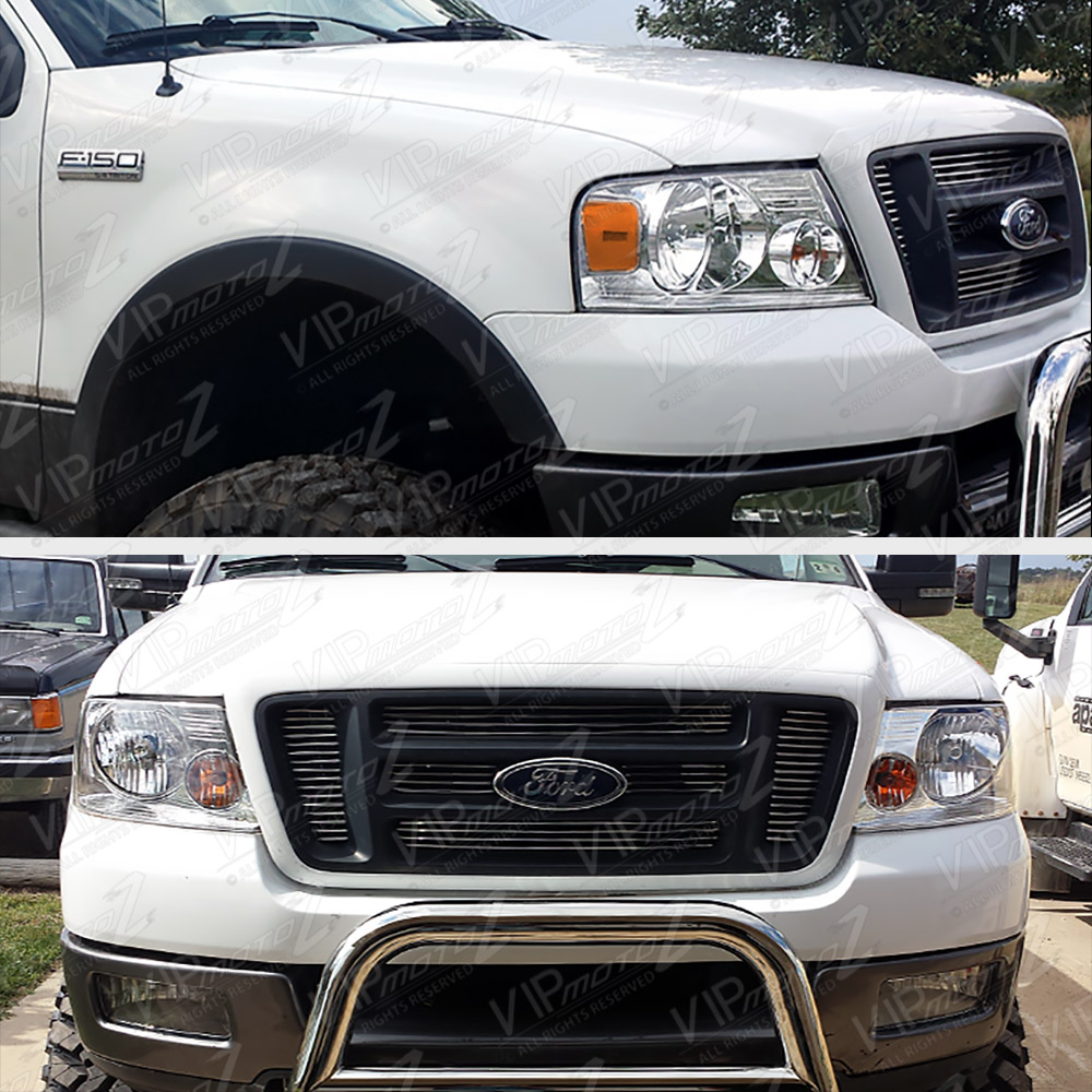 04-08 Ford F150 PickUp Truck Chrome Replacement Headlight