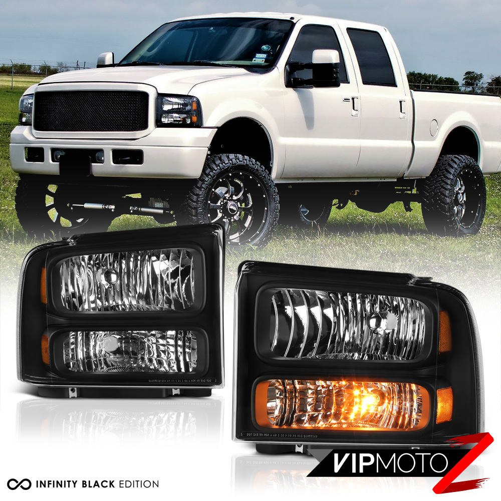 2005-2007 Ford F250 F350 F450 SuperDuty SD Black Front