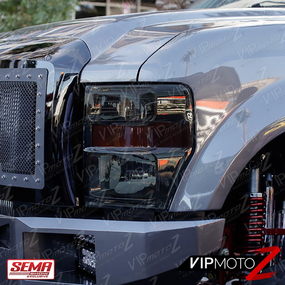 2008-2010 Ford F250 F350 SuperDuty Smoke Headlights LED