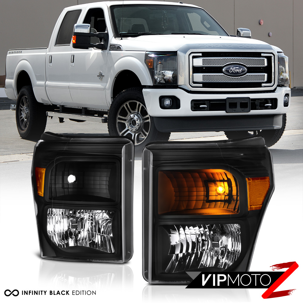 2011-2016 Ford F250 F350 F450 SuperDuty SD Black Front