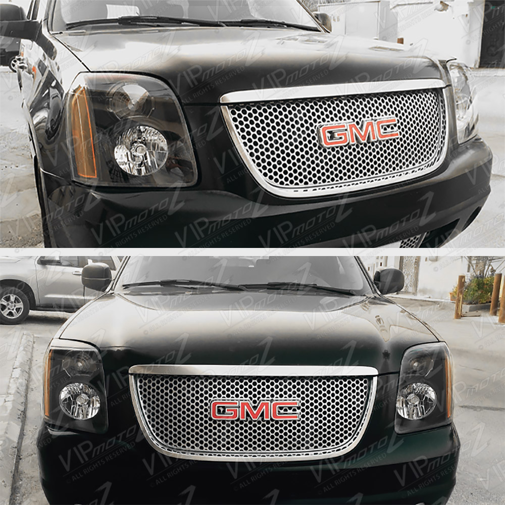 2007-2014 GMC Yukon XL 1500 Denali Black Front Headlights