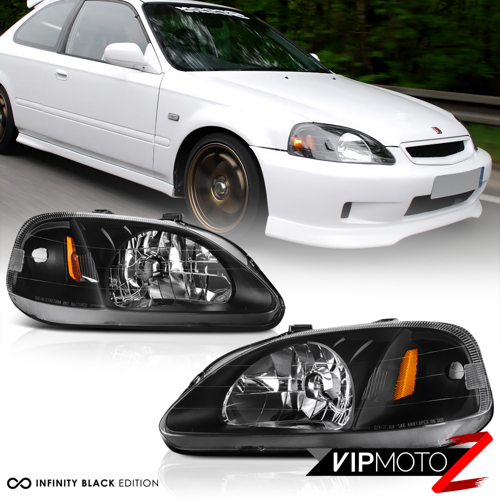 1999 2000 Honda Civic 2d 4d Coupe Sedan Hatch Black Amber