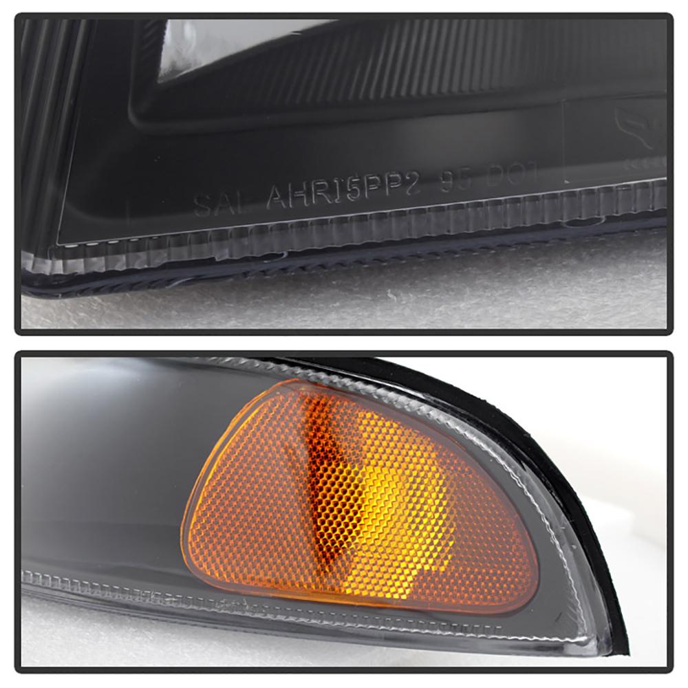 1995-2000 Dodge Stratus Crystal Black Headlights Assembly