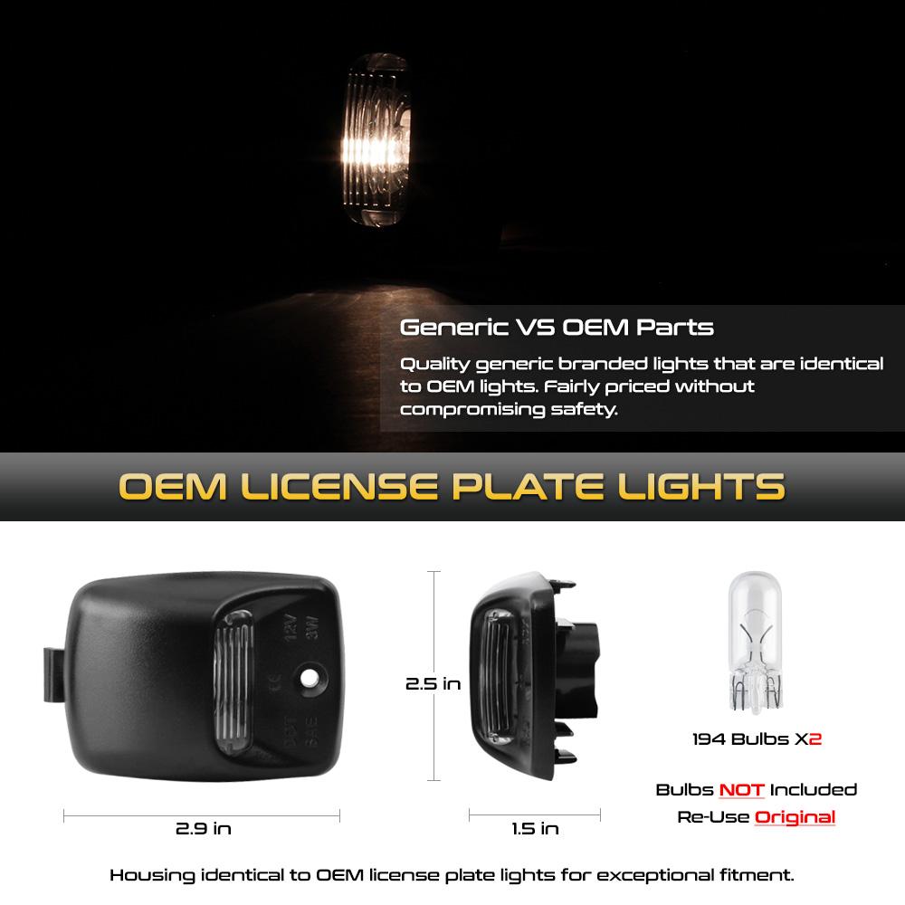UPGRADE x2 18 SMD LED License Plate Light Assembly For 05-15 Tacoma//00-13 Tundra