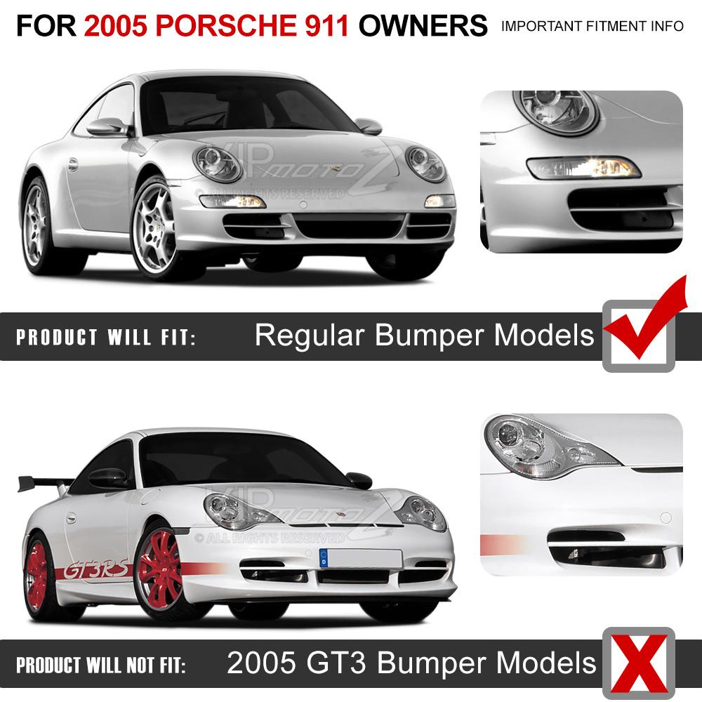 2005 2008 porsche 997 911 carrera gt3 targa signal led bumper fender light set ebay. Black Bedroom Furniture Sets. Home Design Ideas