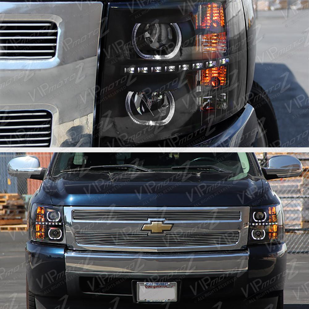 2007-2013 Chevy Silverado 1500 2500HD 3500HD Black Halo