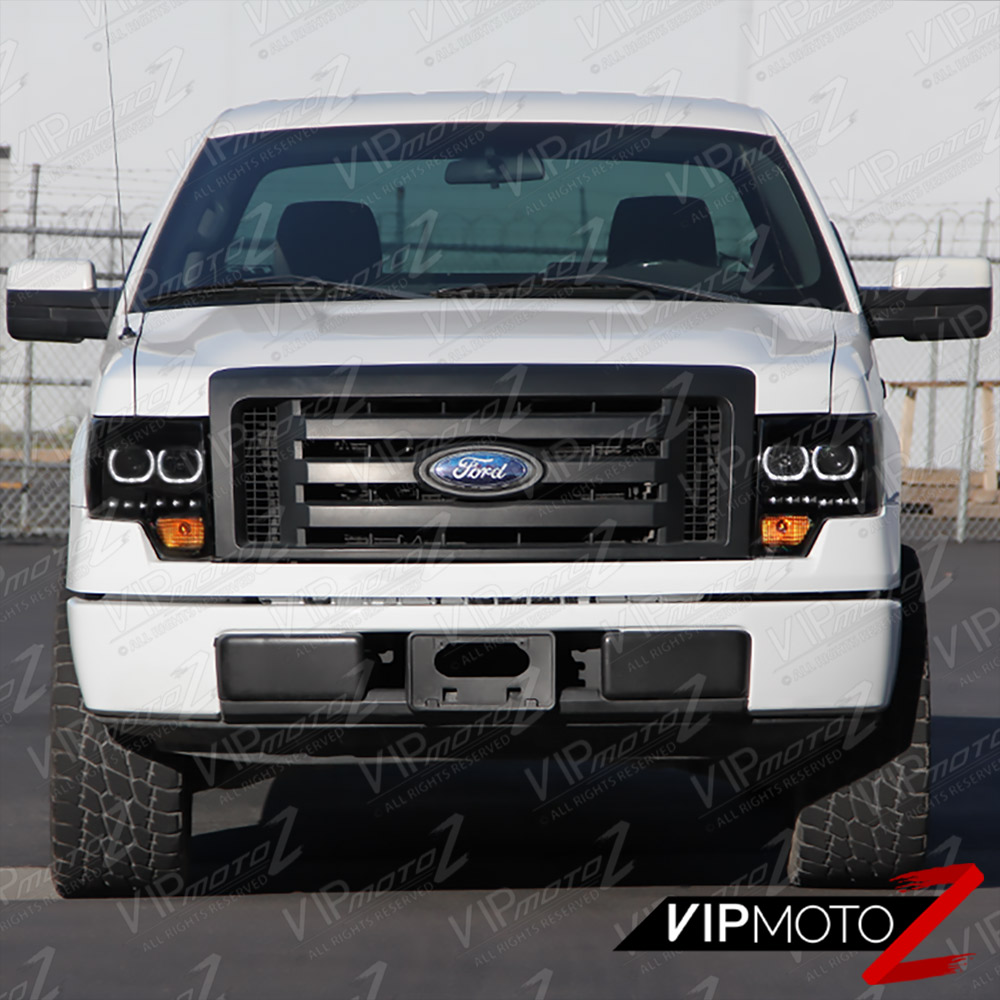 Quot Sinister Black Quot 2009 2014 Ford F150 Drl Led Angel Eye