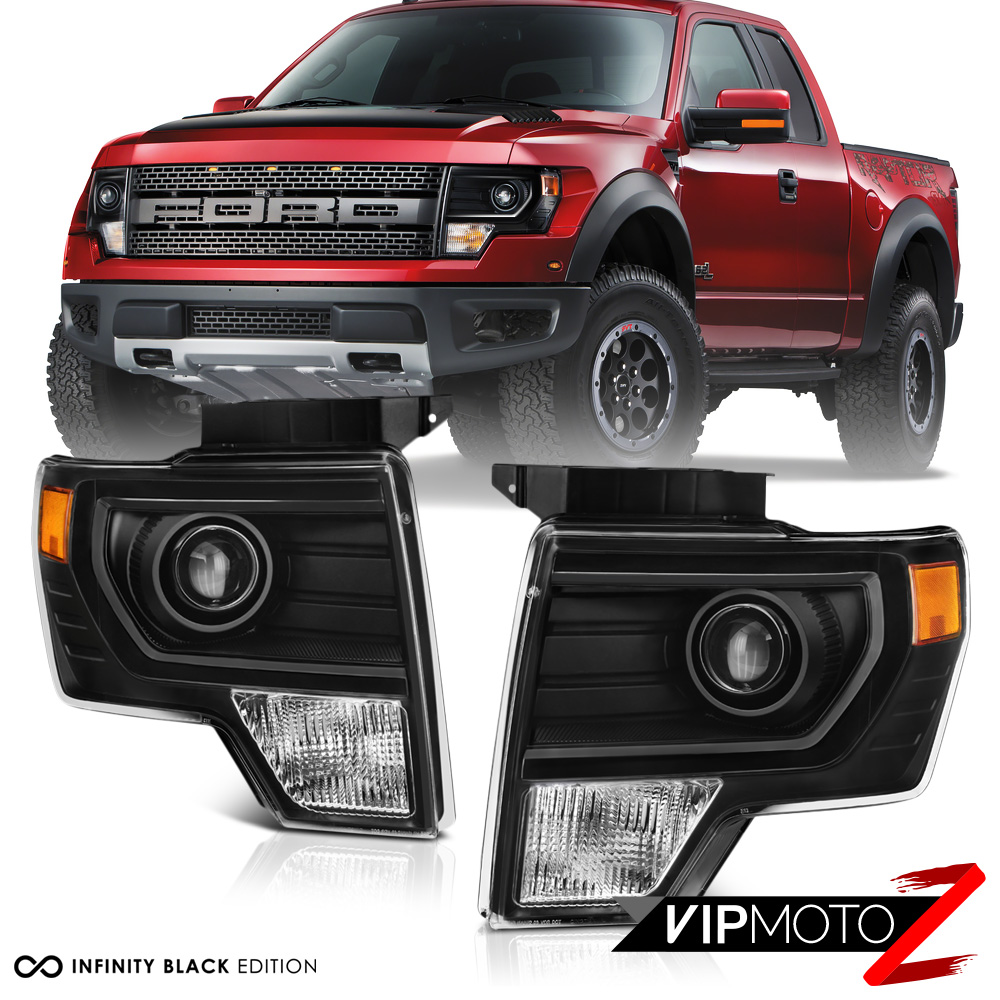 [FACTORY PROJECTOR STYLE] 2009-2014 Ford F150 Black