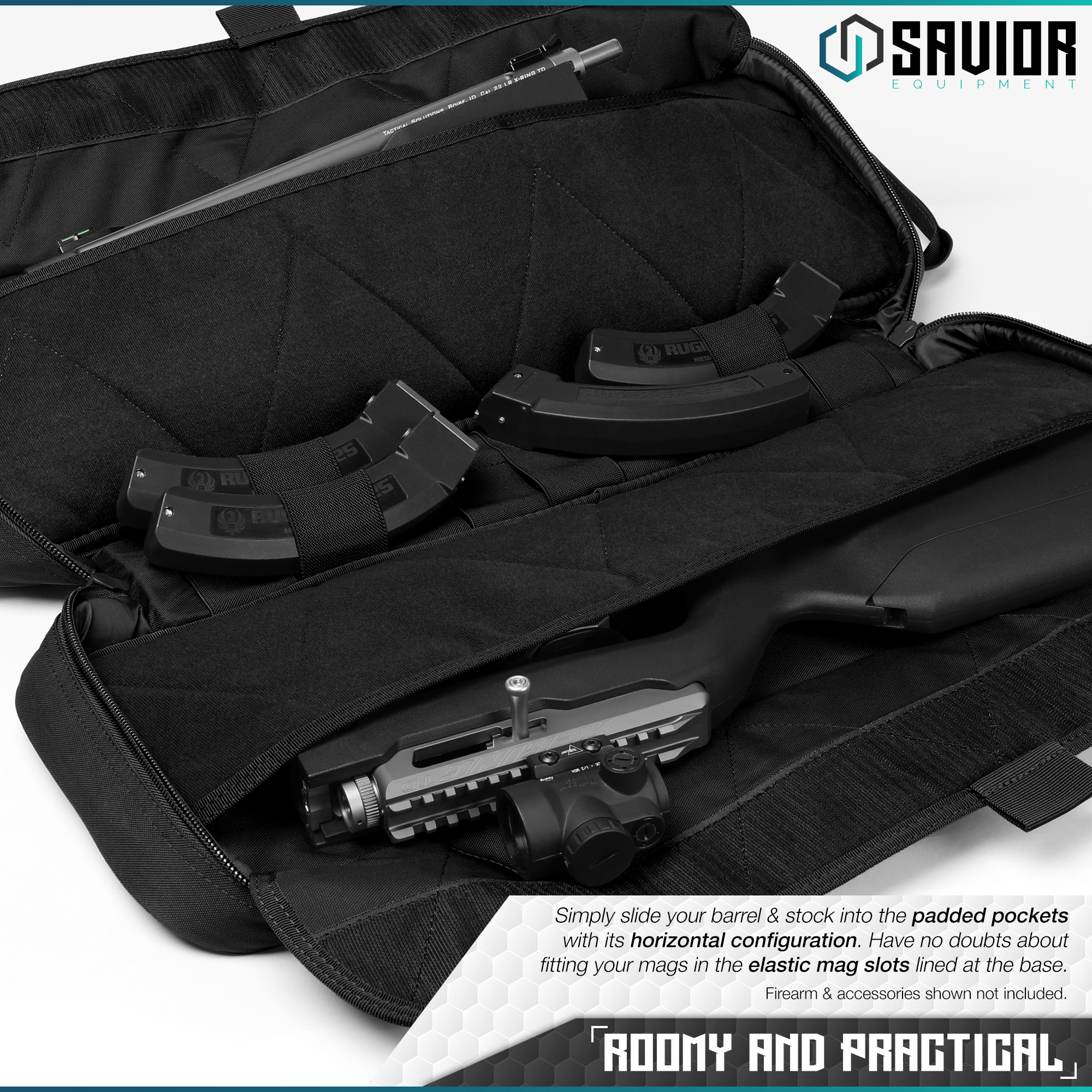 Savior-Tactical-Urban-Takedown-Bag-Carbine-Rifle-Padded-Shotgun-Firearm-Backpack thumbnail 10