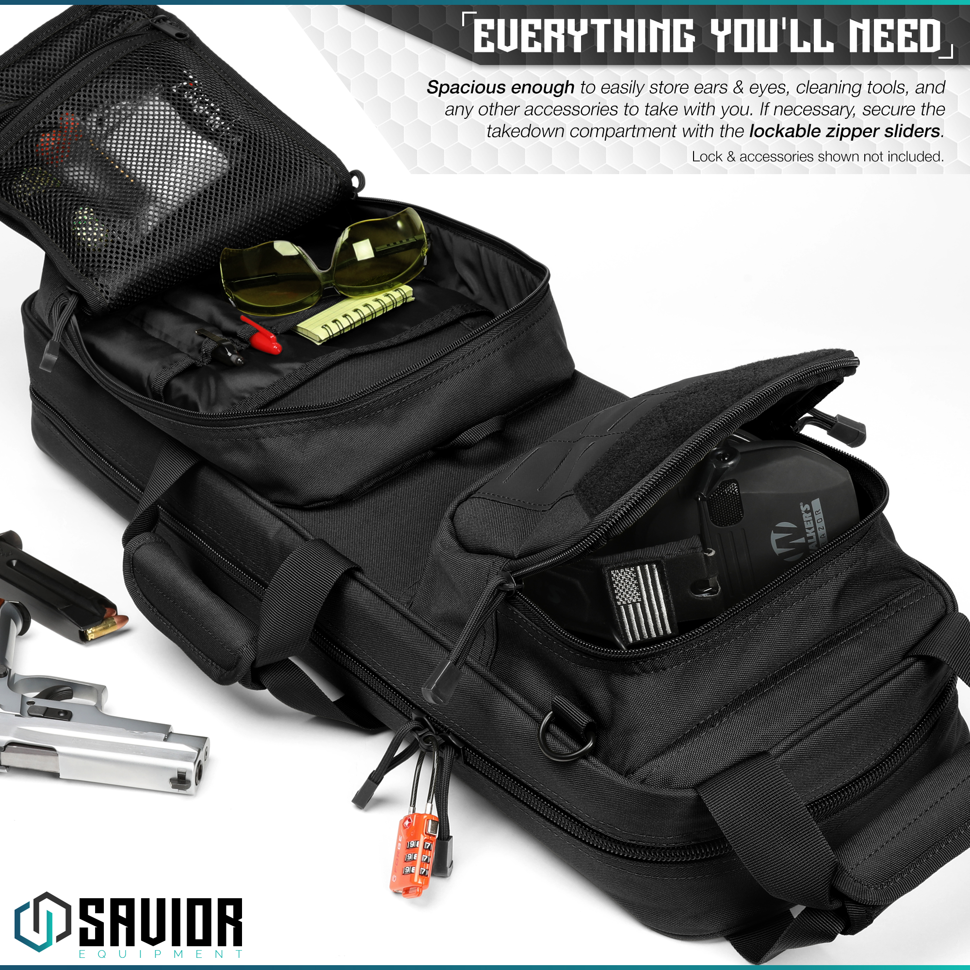 Savior-Tactical-Urban-Takedown-Bag-Carbine-Rifle-Padded-Shotgun-Firearm-Backpack thumbnail 11