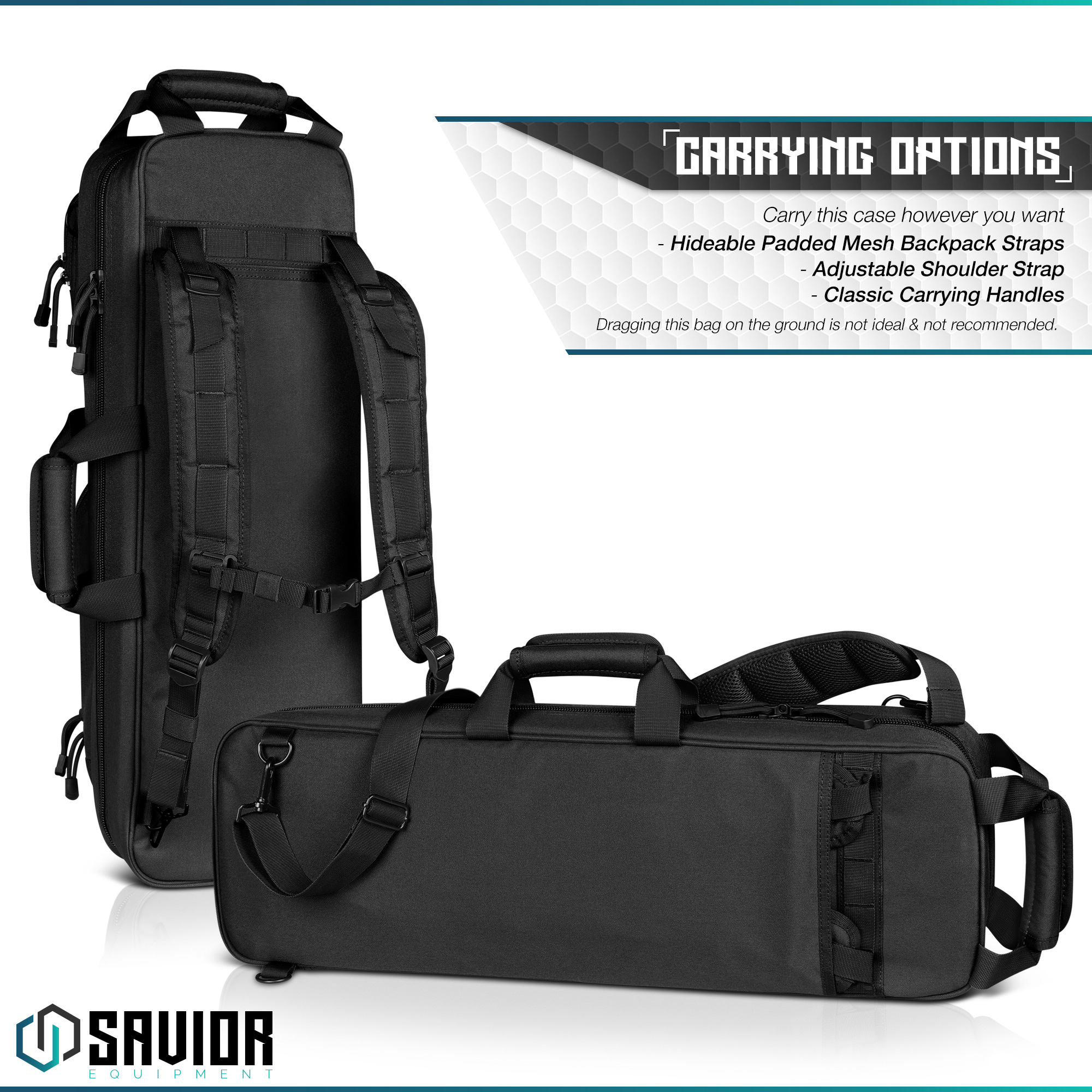 Savior-Tactical-Urban-Takedown-Bag-Carbine-Rifle-Padded-Shotgun-Firearm-Backpack thumbnail 12