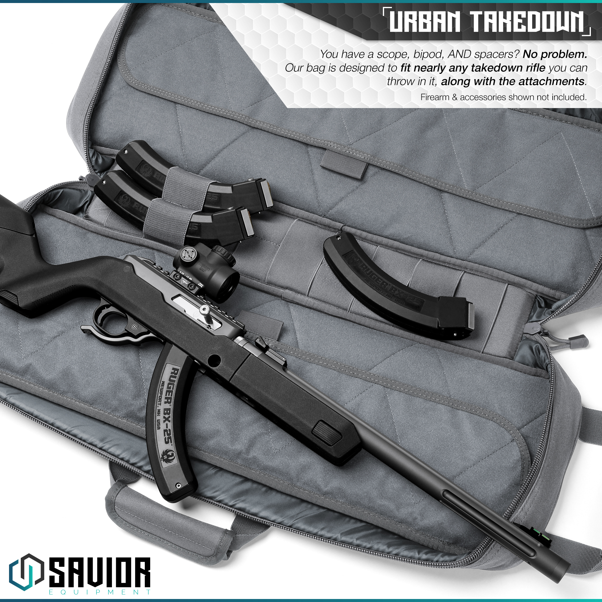 Savior-Tactical-Urban-Takedown-Bag-Carbine-Rifle-Padded-Shotgun-Firearm-Backpack thumbnail 21