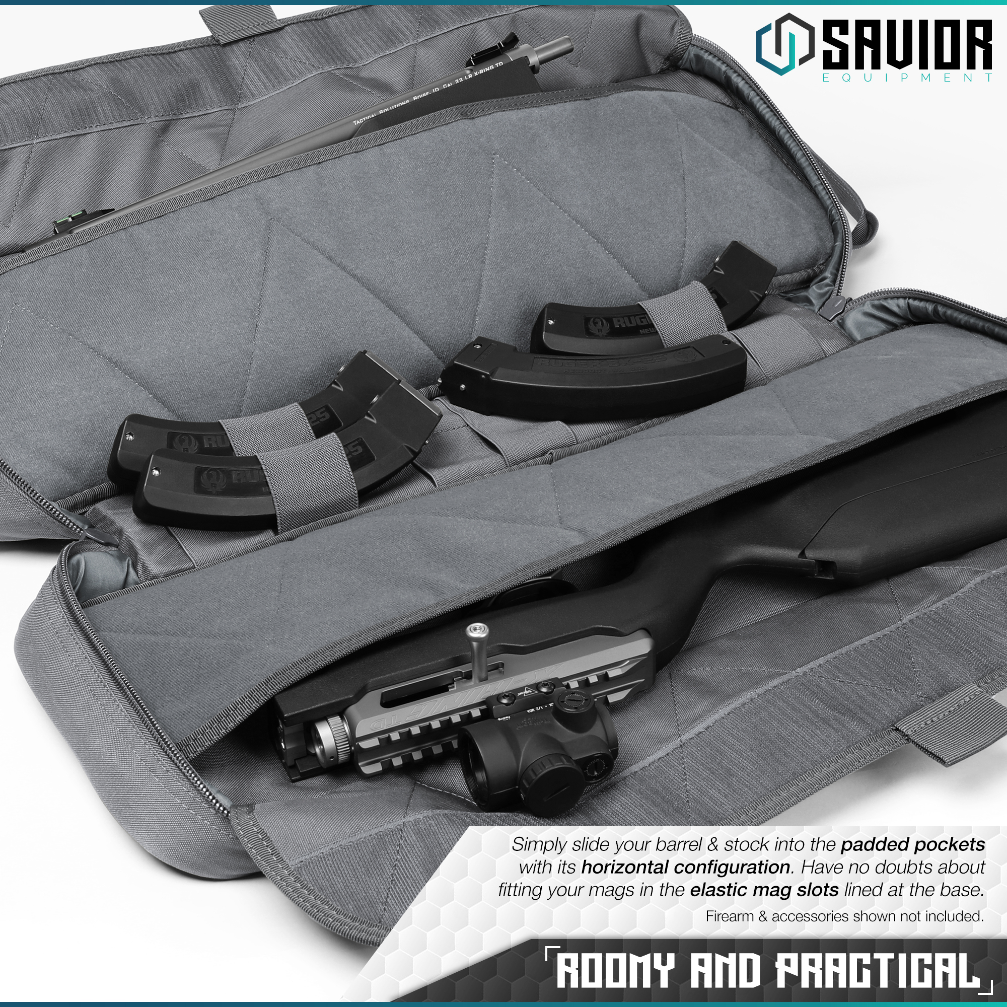 Savior-Tactical-Urban-Takedown-Bag-Carbine-Rifle-Padded-Shotgun-Firearm-Backpack thumbnail 22