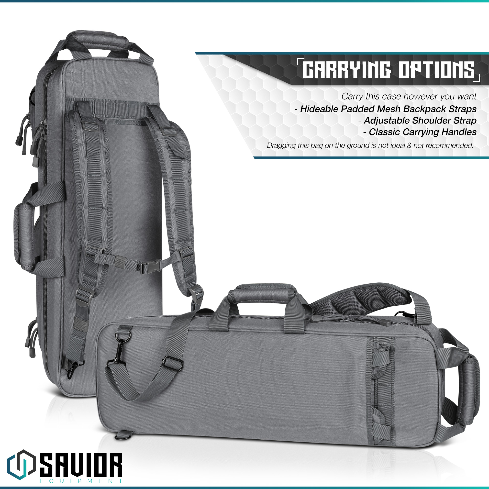 Savior-Tactical-Urban-Takedown-Bag-Carbine-Rifle-Padded-Shotgun-Firearm-Backpack thumbnail 24