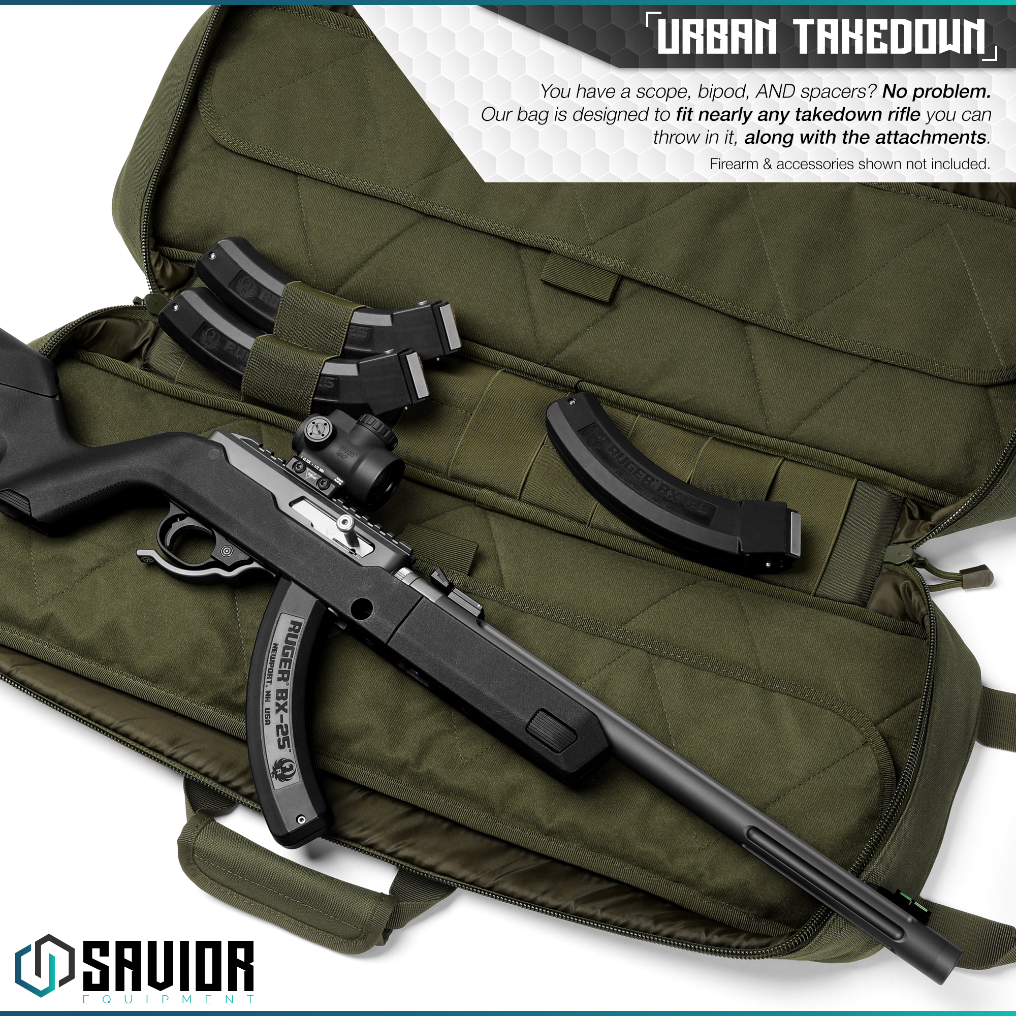 Savior-Tactical-Urban-Takedown-Bag-Carbine-Rifle-Padded-Shotgun-Firearm-Backpack thumbnail 15