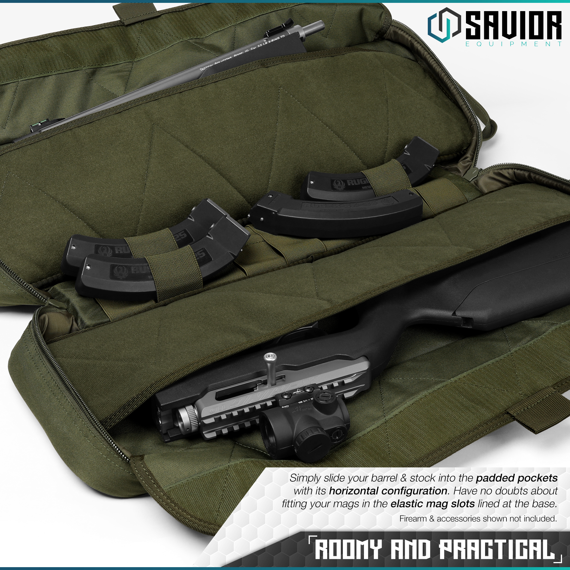 Savior-Tactical-Urban-Takedown-Bag-Carbine-Rifle-Padded-Shotgun-Firearm-Backpack thumbnail 16