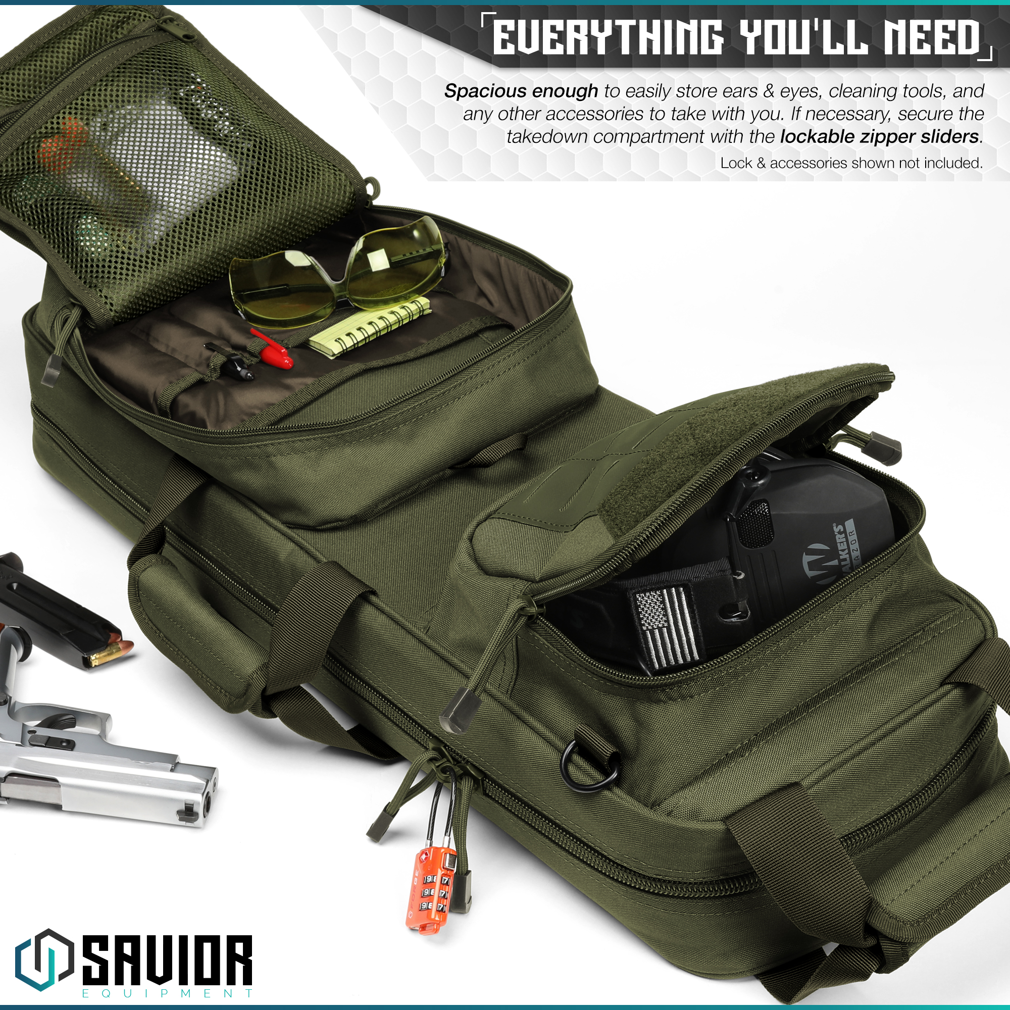 Savior-Tactical-Urban-Takedown-Bag-Carbine-Rifle-Padded-Shotgun-Firearm-Backpack thumbnail 17
