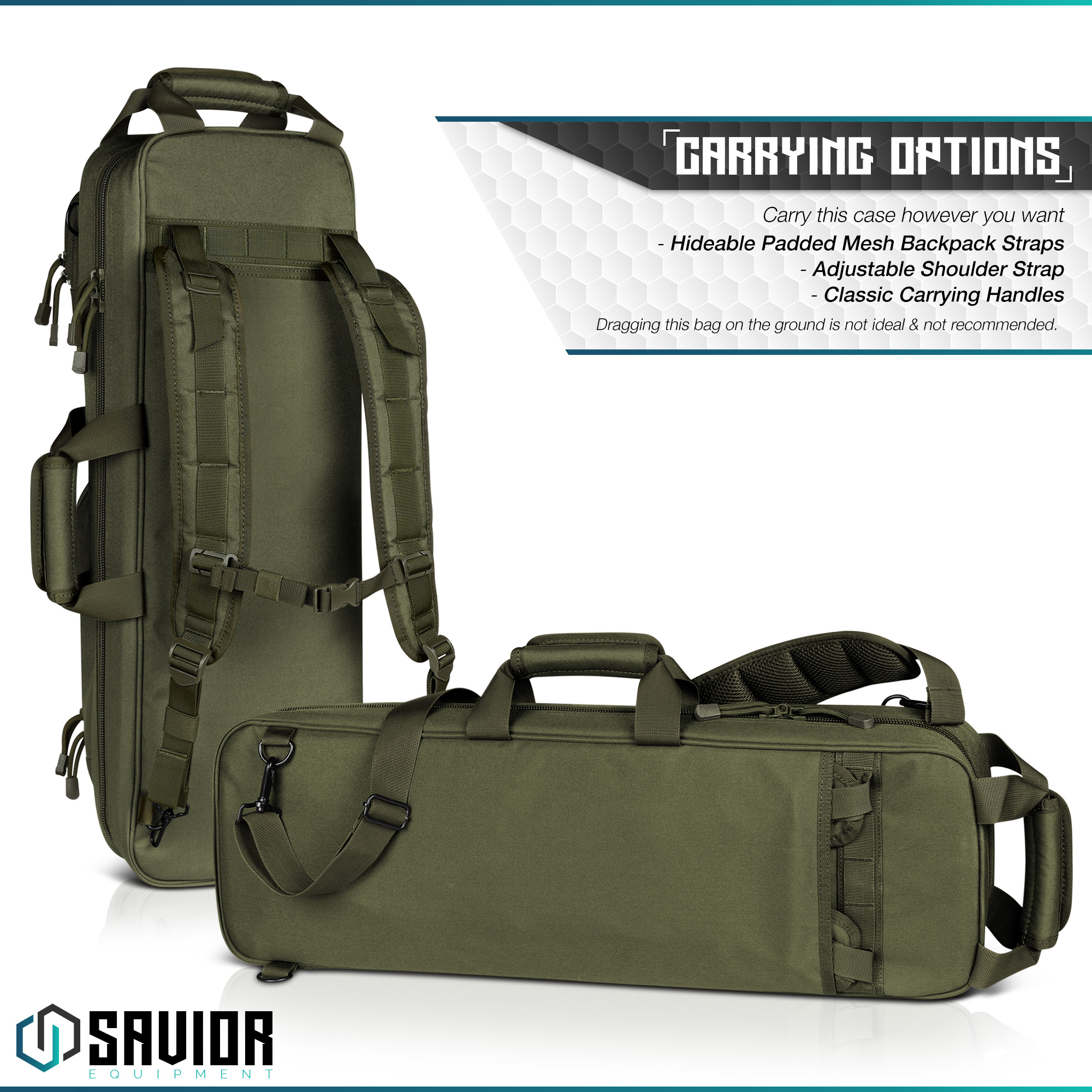 Savior-Tactical-Urban-Takedown-Bag-Carbine-Rifle-Padded-Shotgun-Firearm-Backpack thumbnail 18