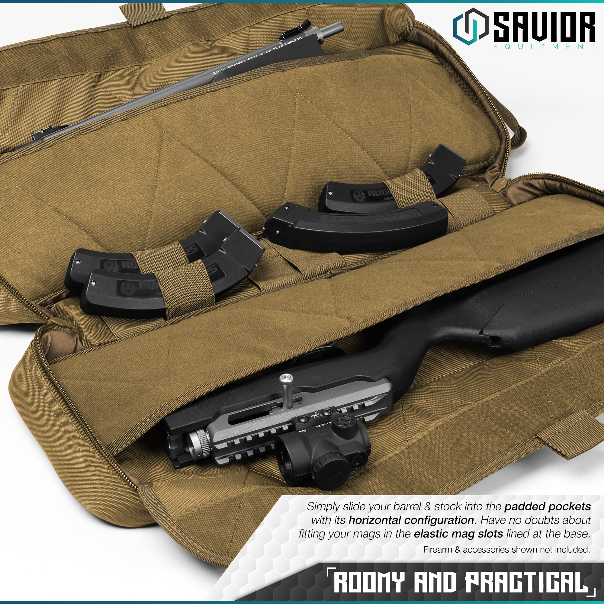 Savior-Tactical-Urban-Takedown-Bag-Carbine-Rifle-Padded-Shotgun-Firearm-Backpack thumbnail 4