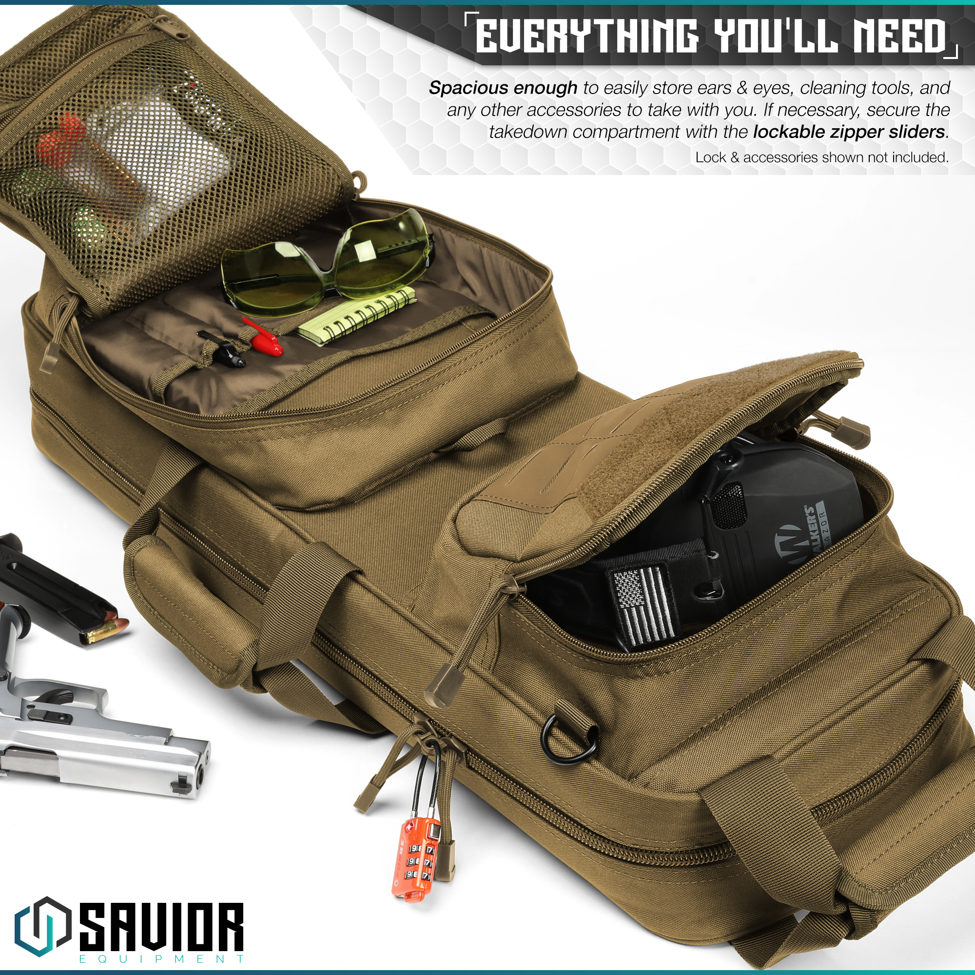 Savior-Tactical-Urban-Takedown-Bag-Carbine-Rifle-Padded-Shotgun-Firearm-Backpack thumbnail 5