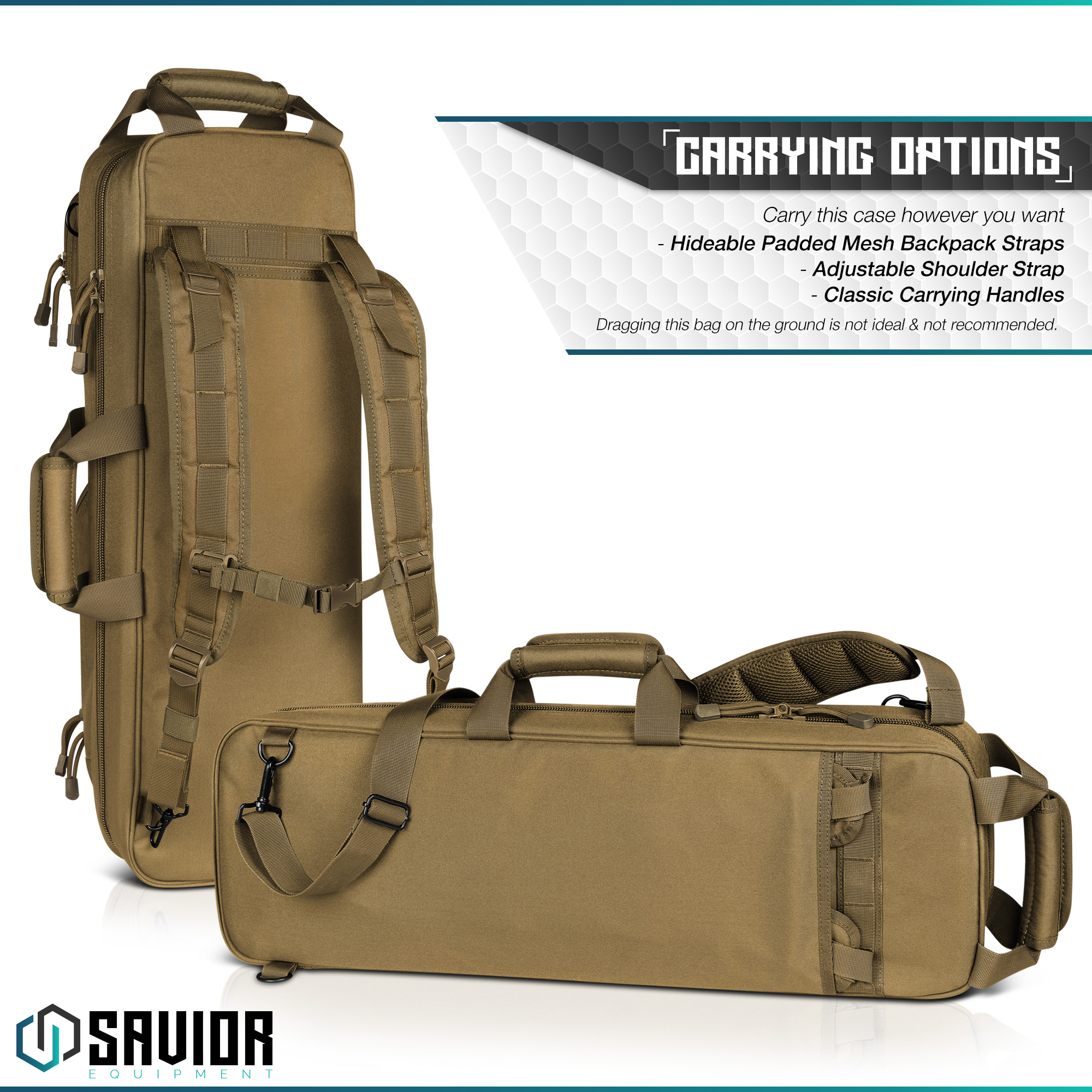Savior-Tactical-Urban-Takedown-Bag-Carbine-Rifle-Padded-Shotgun-Firearm-Backpack thumbnail 6