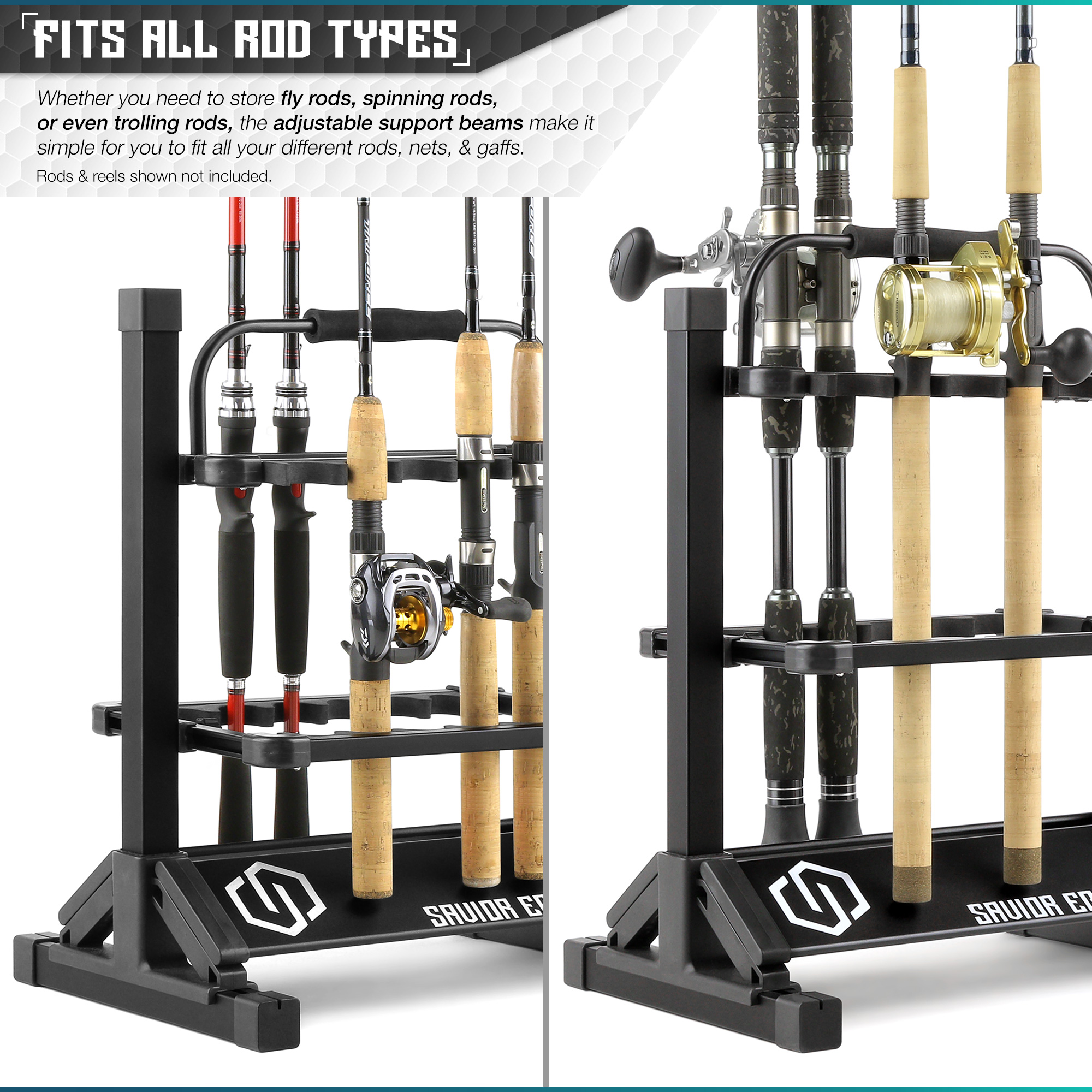 Rotation Pole Pod Stand 3 Link boat Fishing Rod Holder  Ground Stand