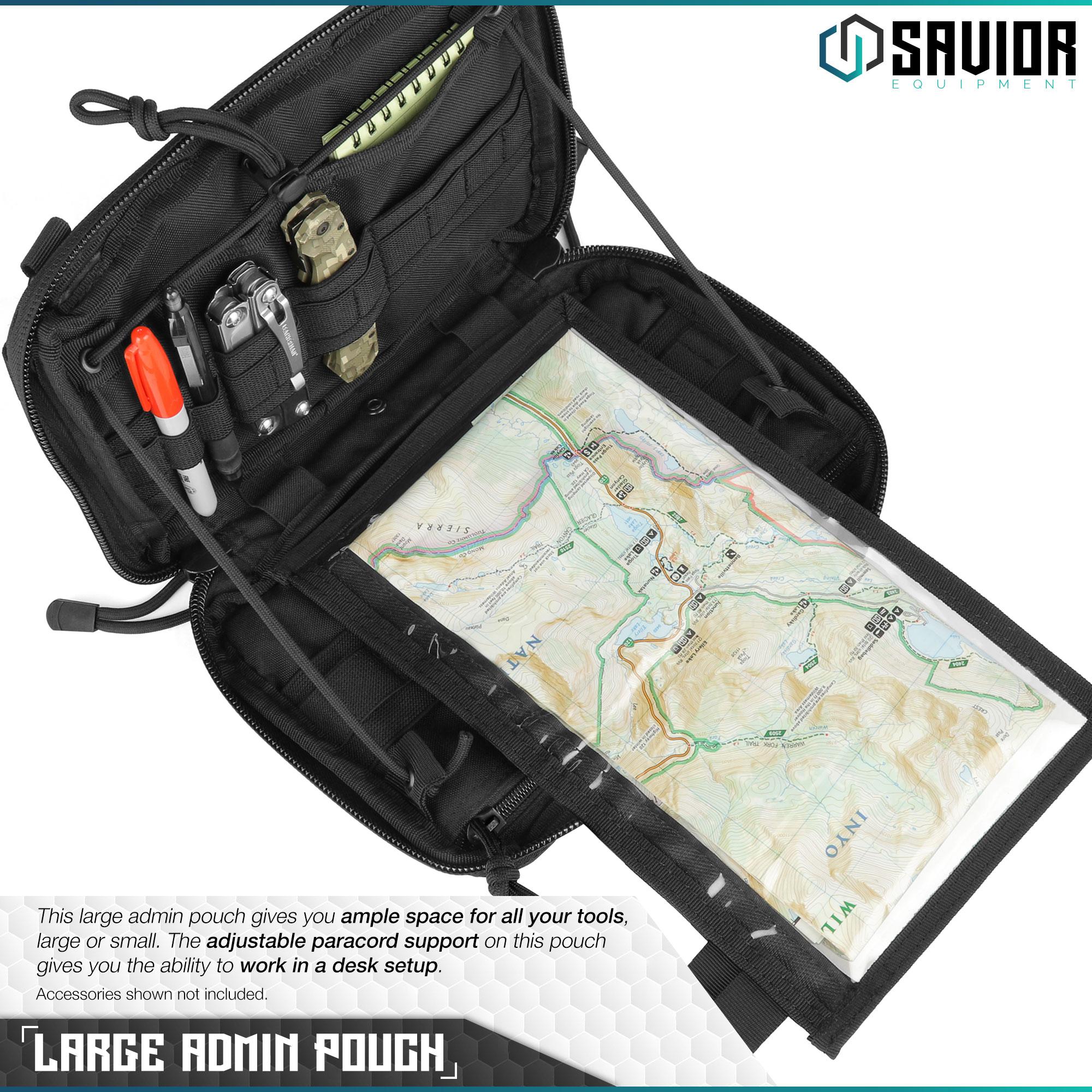 SAVIOR-Laser-Cut-MOLLE-Admin-Utility-EDC-Pouch-Tactical-Outdoor-Survival-Bag thumbnail 15