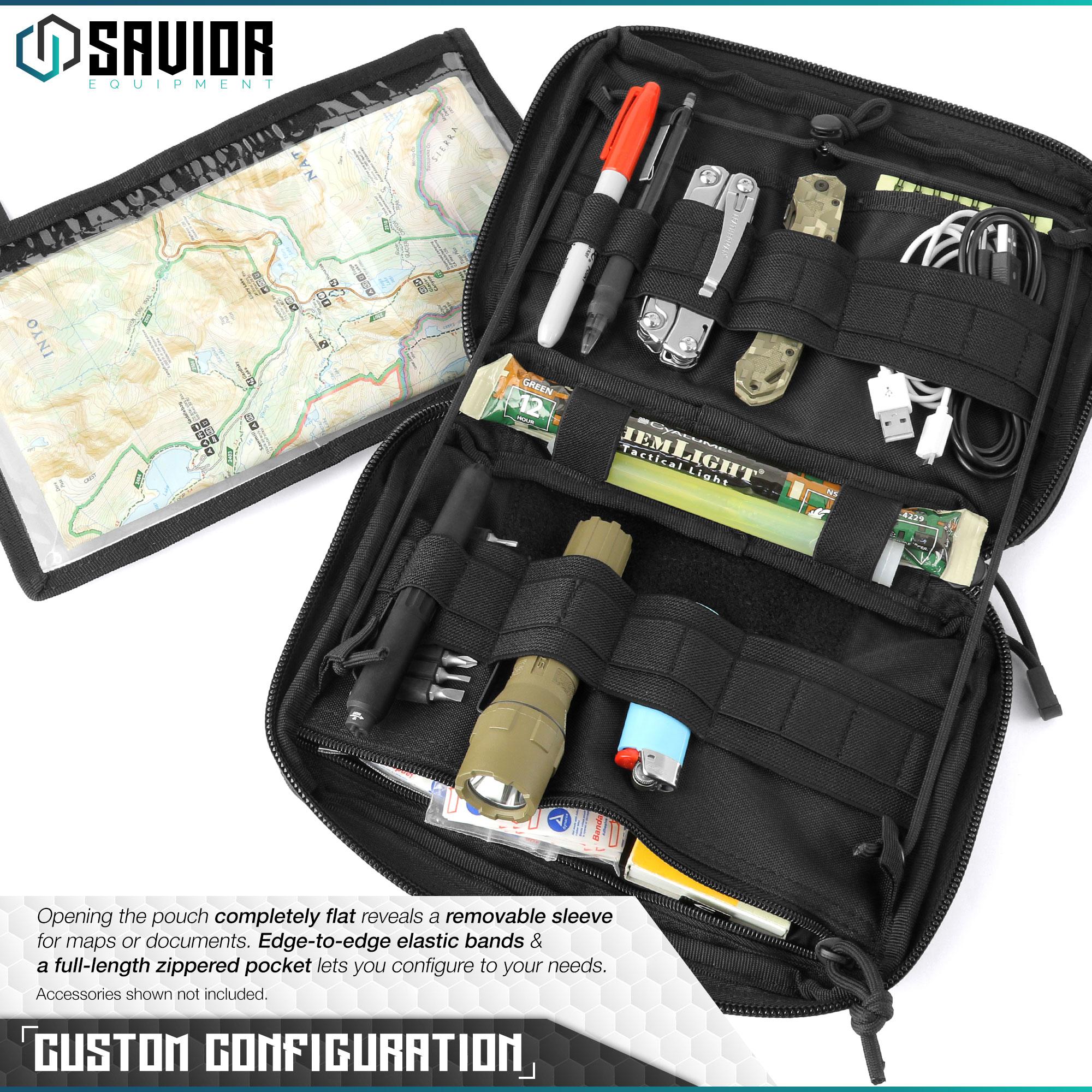 SAVIOR-Laser-Cut-MOLLE-Admin-Utility-EDC-Pouch-Tactical-Outdoor-Survival-Bag thumbnail 16