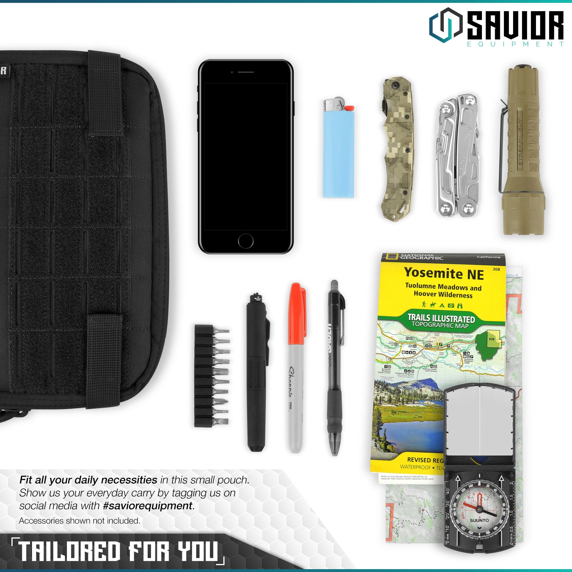 SAVIOR-Laser-Cut-MOLLE-Admin-Utility-EDC-Pouch-Tactical-Outdoor-Survival-Bag thumbnail 17