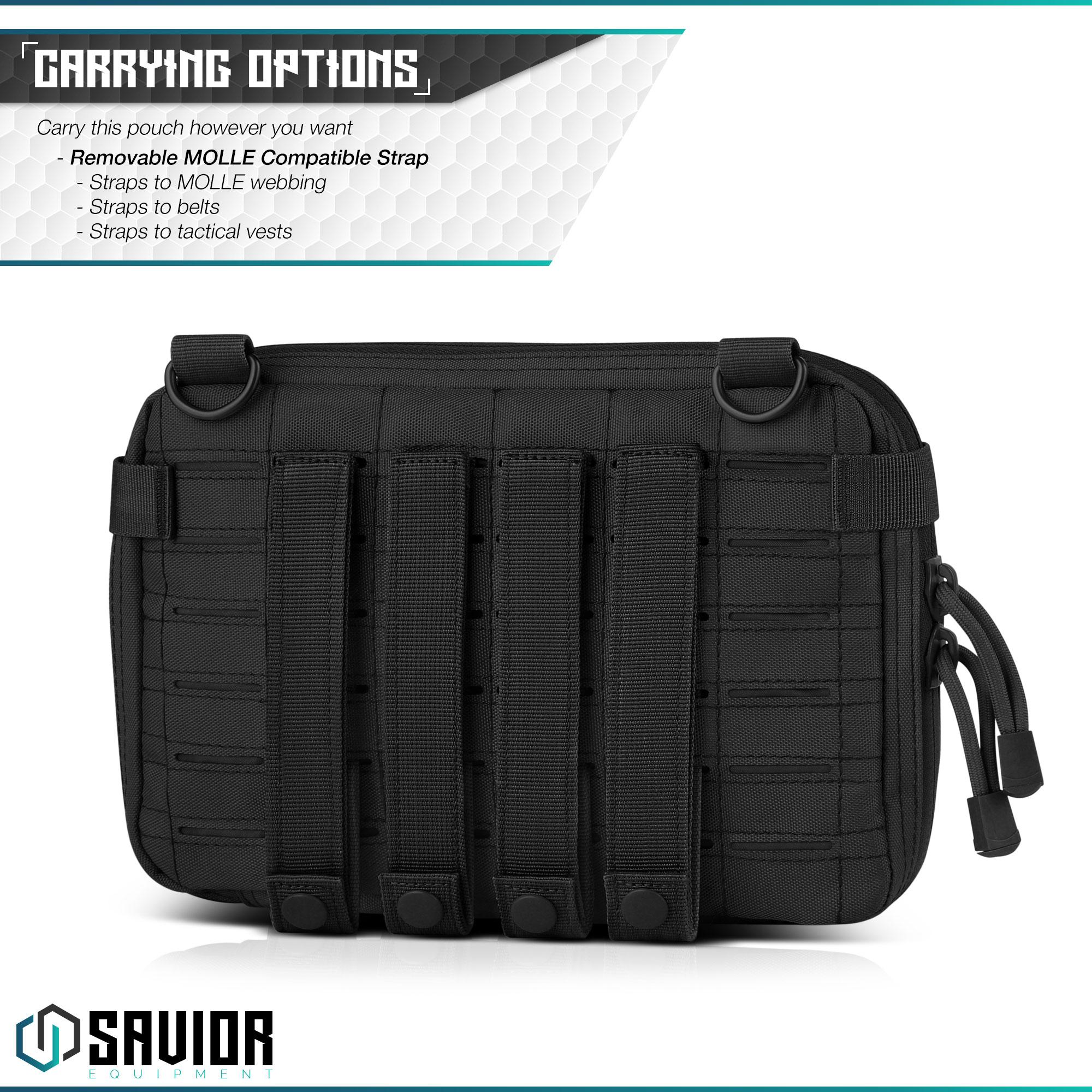SAVIOR-Laser-Cut-MOLLE-Admin-Utility-EDC-Pouch-Tactical-Outdoor-Survival-Bag thumbnail 18