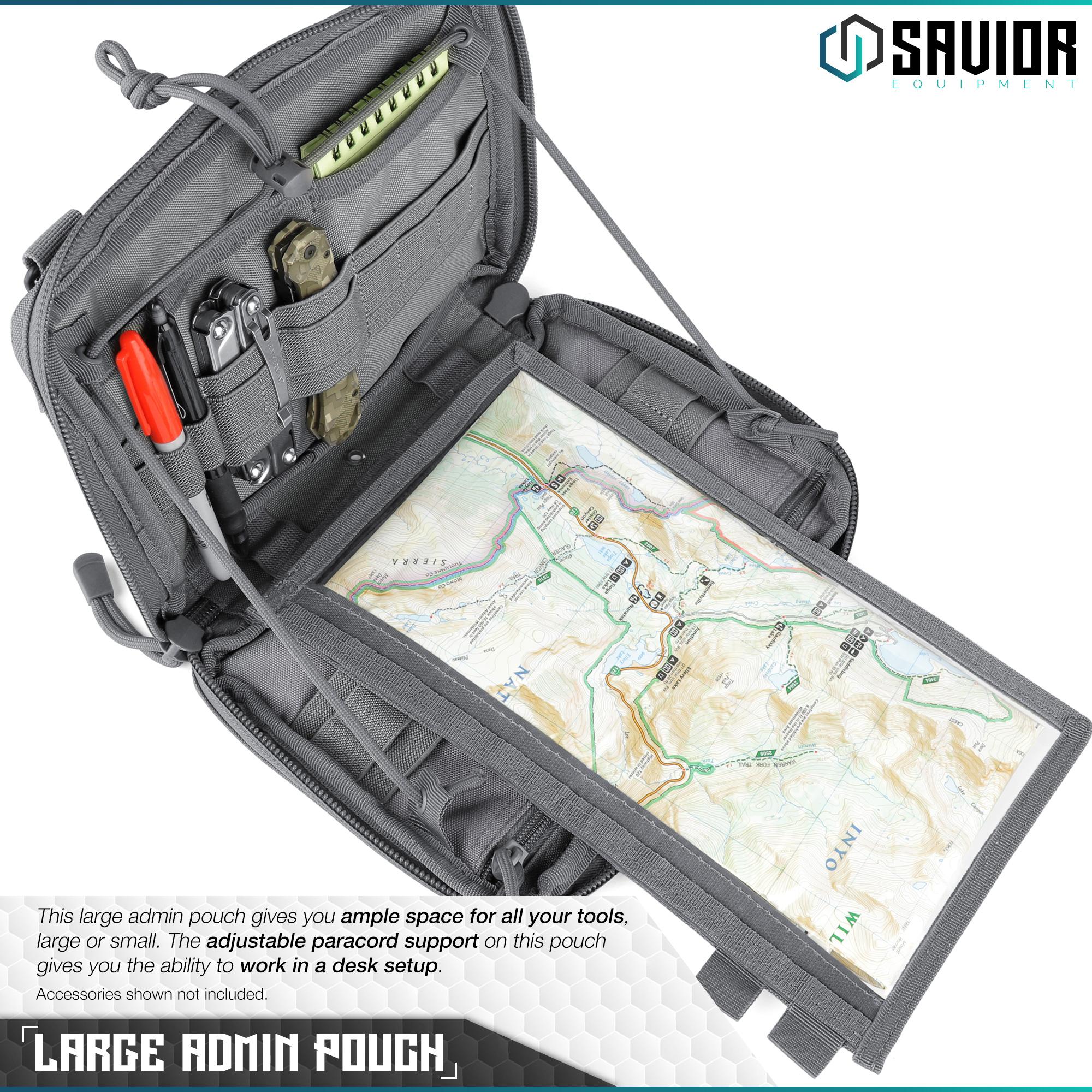 SAVIOR-Laser-Cut-MOLLE-Admin-Utility-EDC-Pouch-Tactical-Outdoor-Survival-Bag thumbnail 3