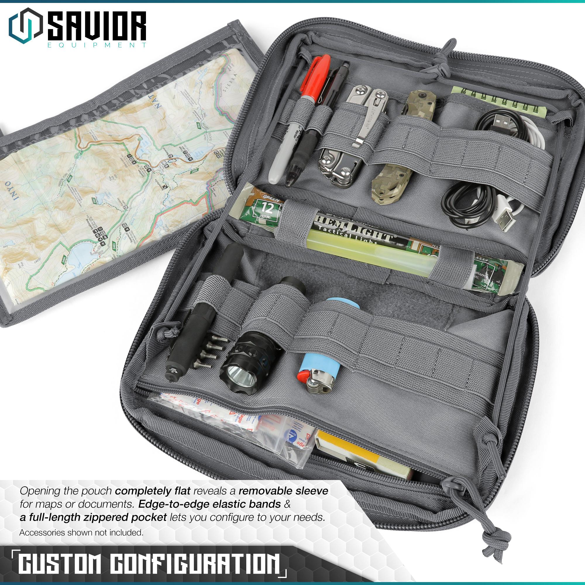 SAVIOR-Laser-Cut-MOLLE-Admin-Utility-EDC-Pouch-Tactical-Outdoor-Survival-Bag thumbnail 4