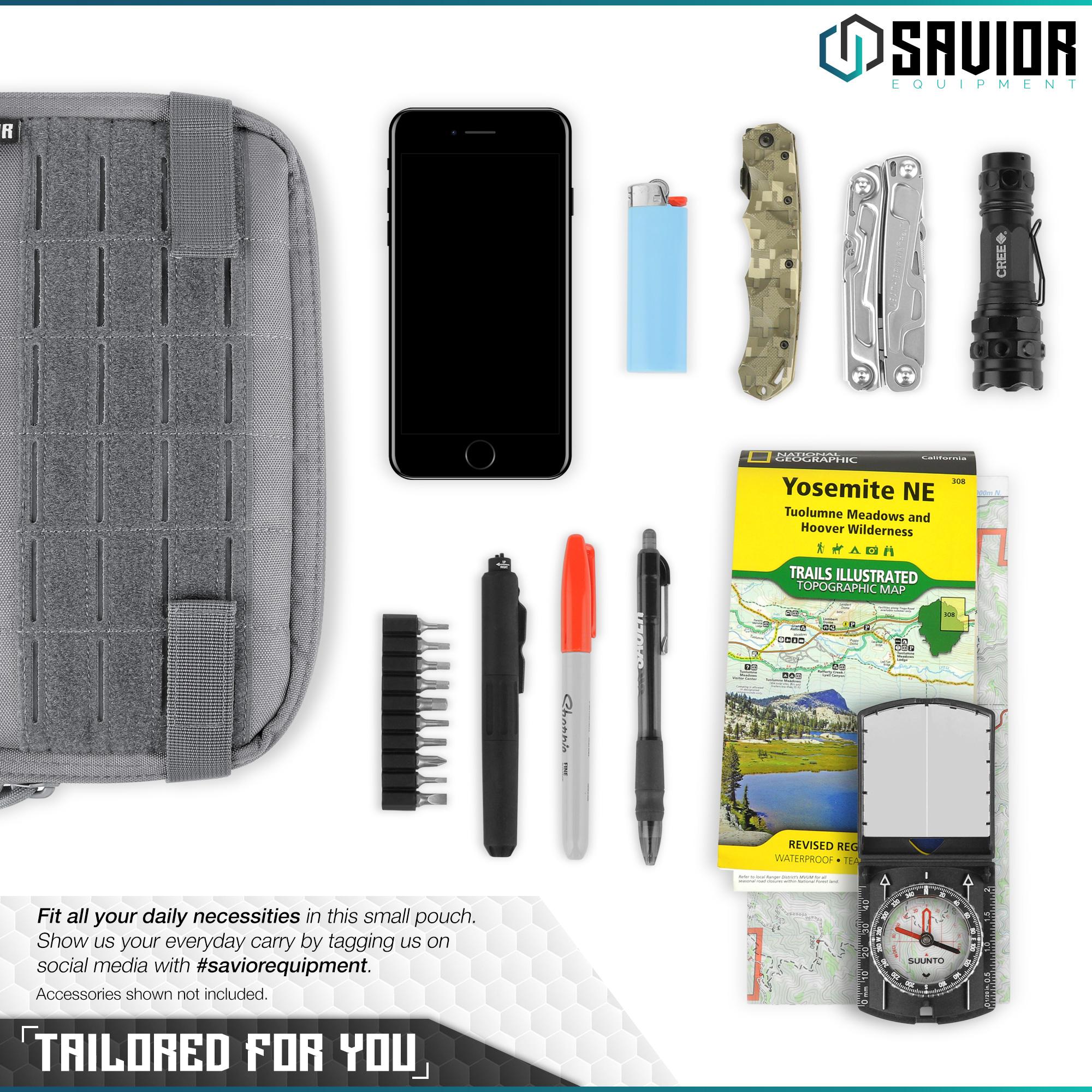 SAVIOR-Laser-Cut-MOLLE-Admin-Utility-EDC-Pouch-Tactical-Outdoor-Survival-Bag thumbnail 5