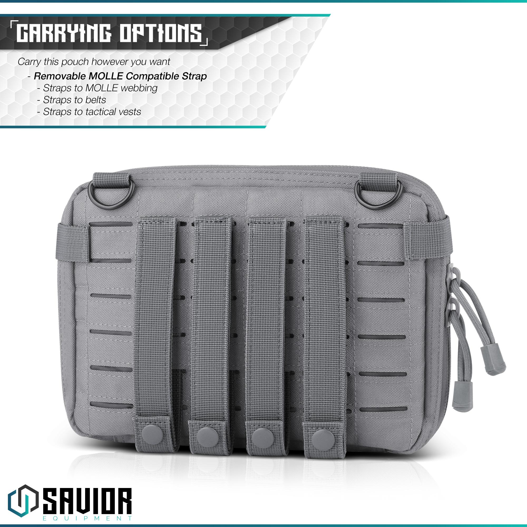 SAVIOR-Laser-Cut-MOLLE-Admin-Utility-EDC-Pouch-Tactical-Outdoor-Survival-Bag thumbnail 6