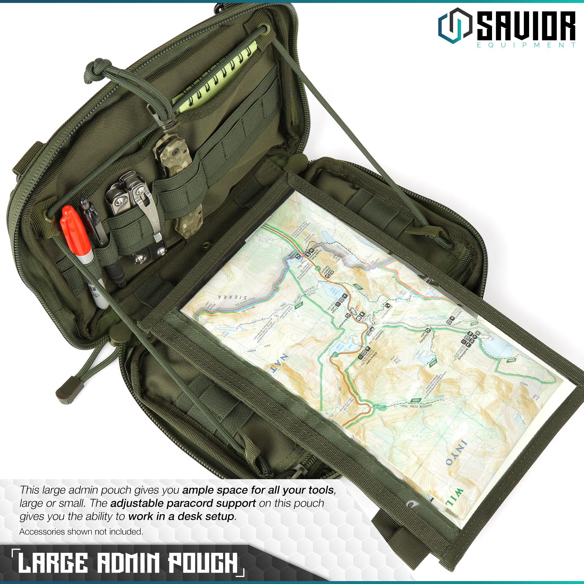 SAVIOR-Laser-Cut-MOLLE-Admin-Utility-EDC-Pouch-Tactical-Outdoor-Survival-Bag thumbnail 21