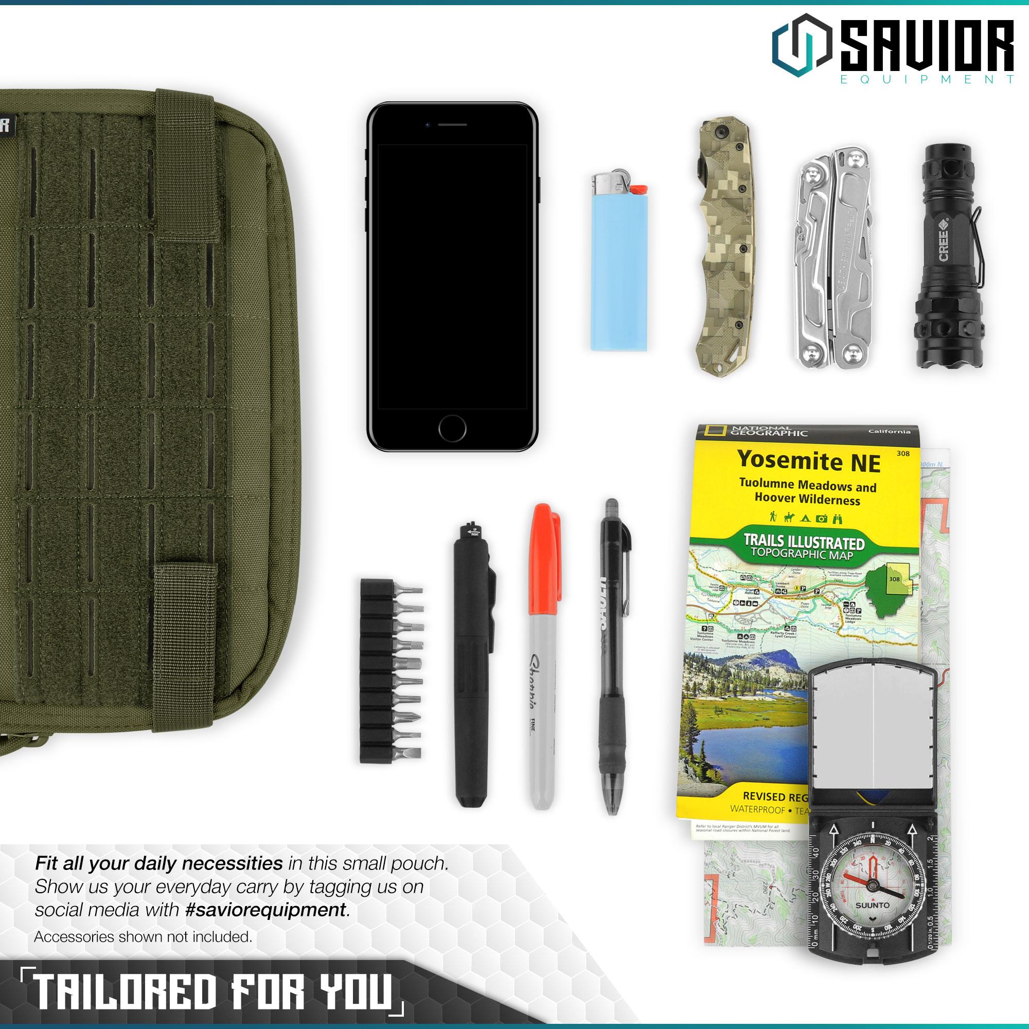 SAVIOR-Laser-Cut-MOLLE-Admin-Utility-EDC-Pouch-Tactical-Outdoor-Survival-Bag thumbnail 23