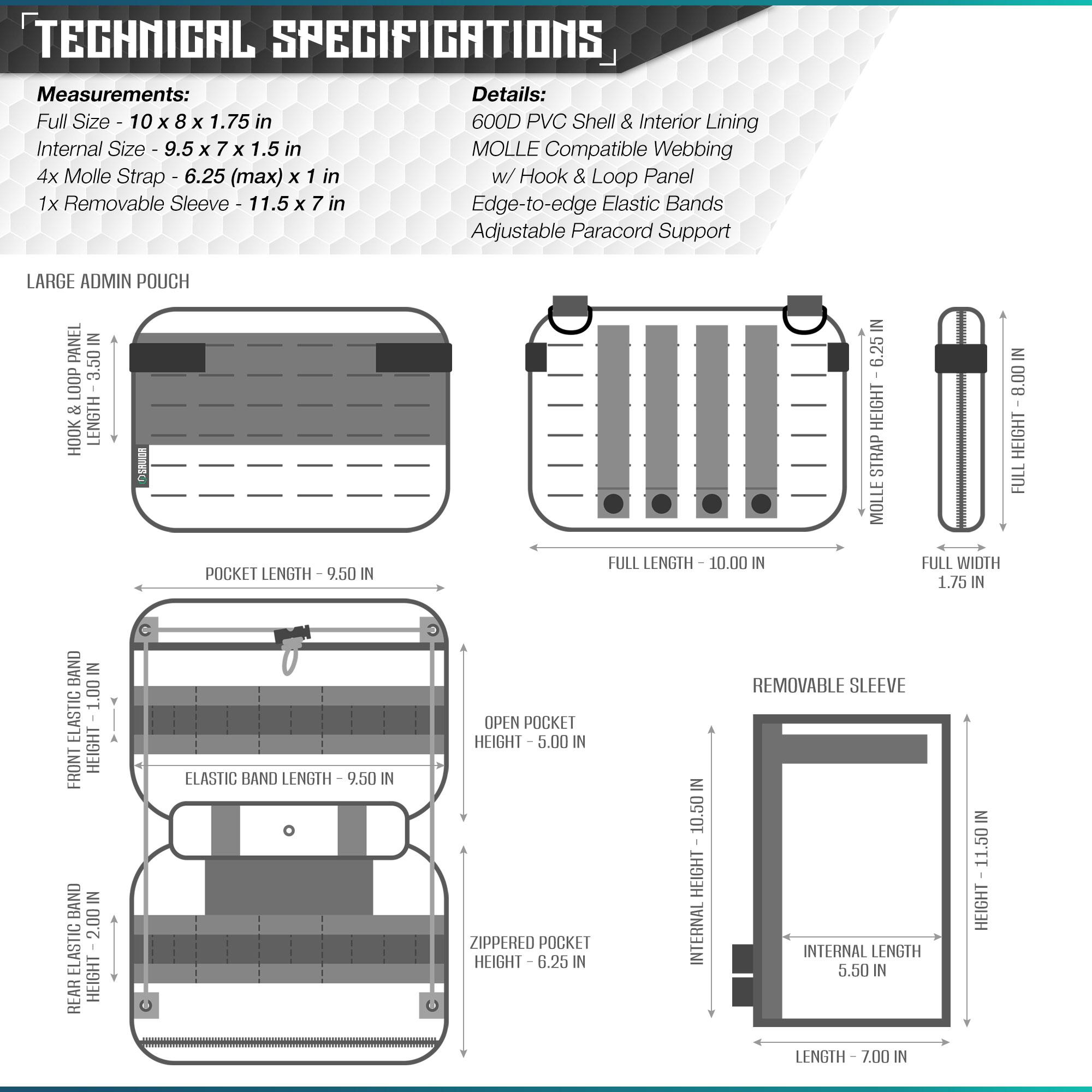 SAVIOR-Laser-Cut-MOLLE-Admin-Utility-EDC-Pouch-Tactical-Outdoor-Survival-Bag thumbnail 25