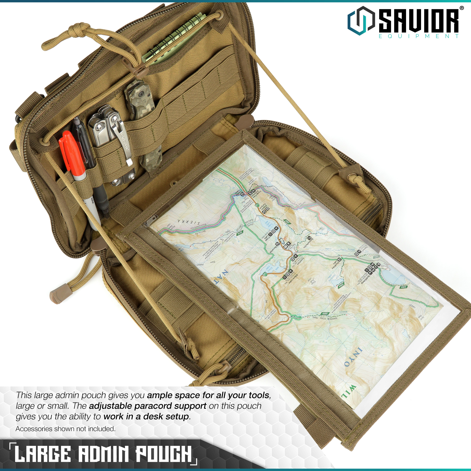 SAVIOR-Laser-Cut-MOLLE-Admin-Utility-EDC-Pouch-Tactical-Outdoor-Survival-Bag thumbnail 9