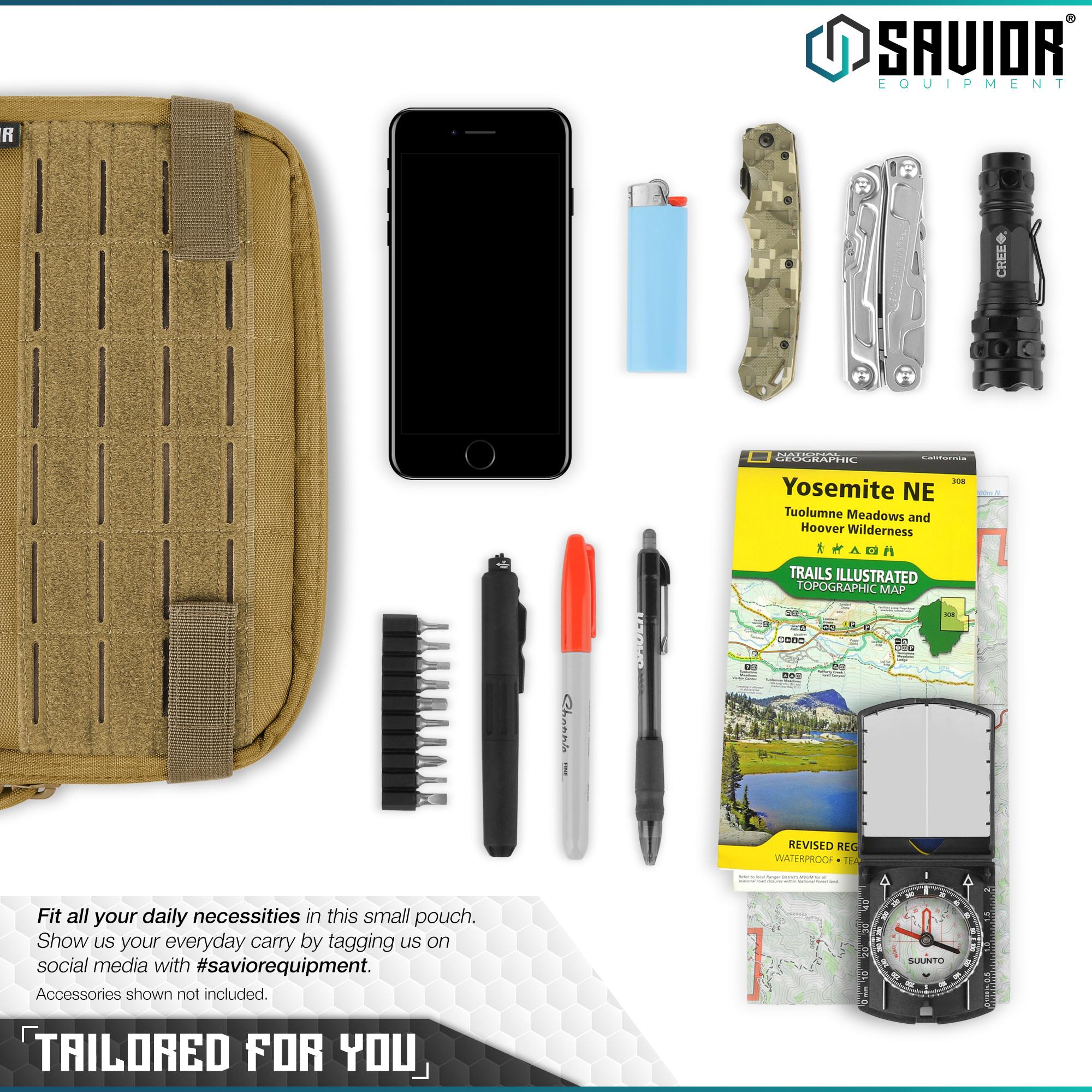 SAVIOR-Laser-Cut-MOLLE-Admin-Utility-EDC-Pouch-Tactical-Outdoor-Survival-Bag thumbnail 11