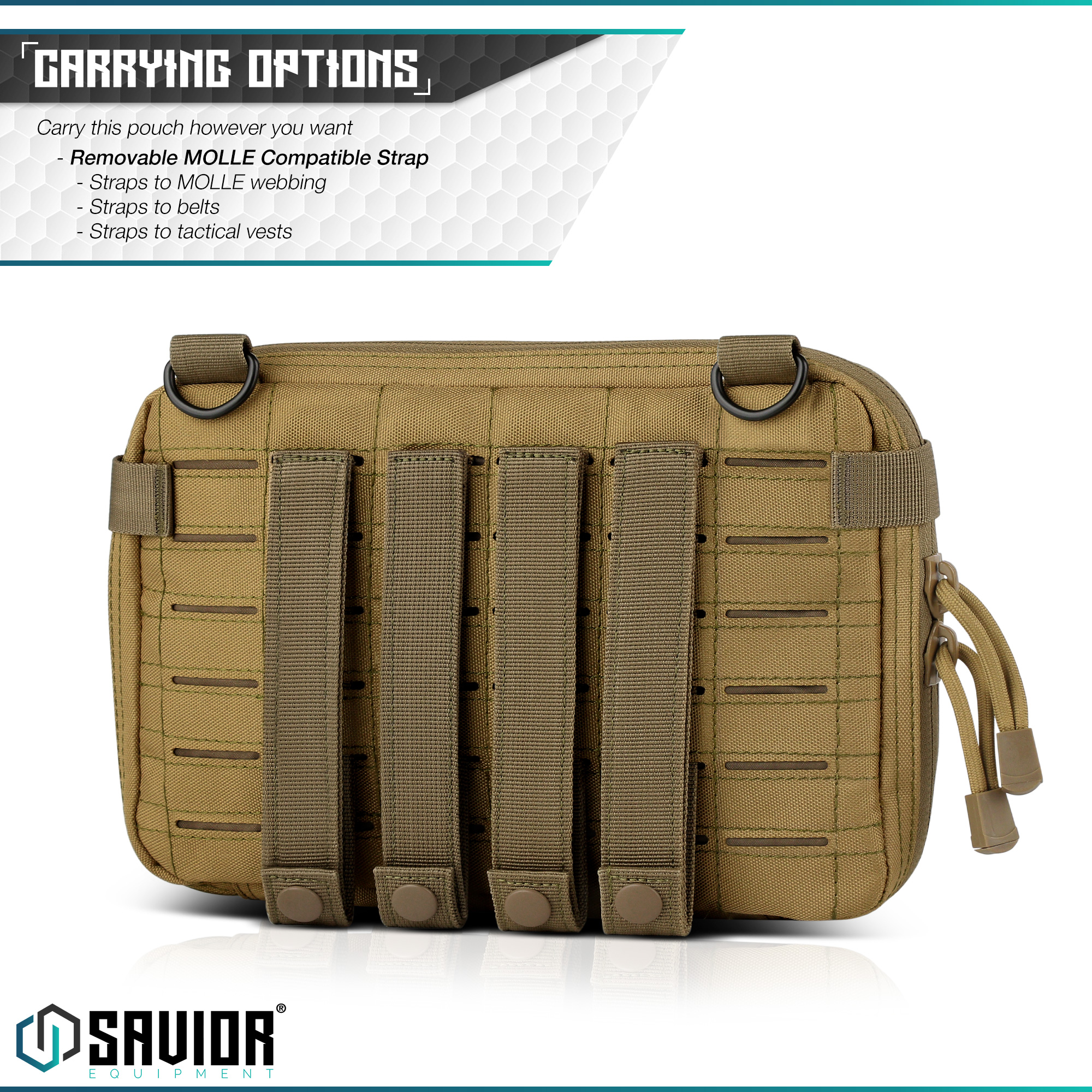 SAVIOR-Laser-Cut-MOLLE-Admin-Utility-EDC-Pouch-Tactical-Outdoor-Survival-Bag thumbnail 12