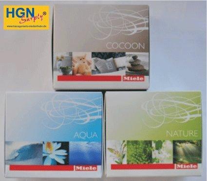 """3 Confezione Miele profumo flacone per asciugatrici /""""AQUA/""""/"""" Natura/"""" /& /""""COCOON/"""""""