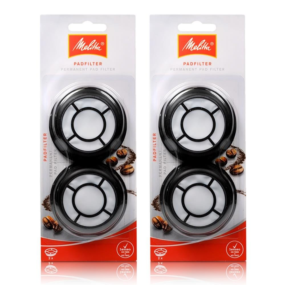 2 x melitta permanent coffee filter filter pad f senseo quadrante ebay. Black Bedroom Furniture Sets. Home Design Ideas